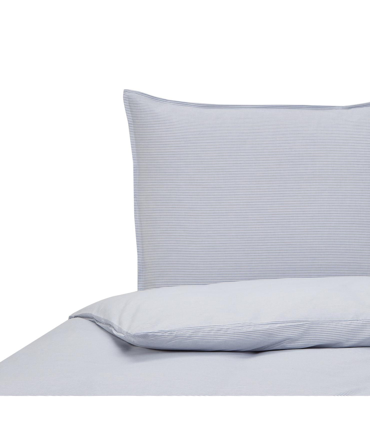 Dekbedovertrek Renato, Katoen, Blauw, wit, 140 x 220 cm