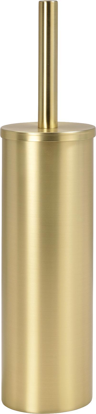 Toilettenbürste Onyar mit Edelstahl-Behälter, Behälter: Edelstahl, beschichtet, Messingfarben, Ø 9 x H 41 cm