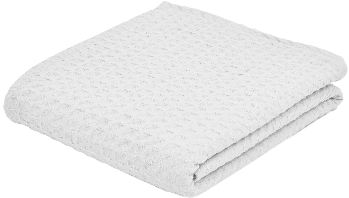 Waffelpiqué-Tagesdecke Panal, 100% Baumwolle, Weiß, 240 x 260 cm