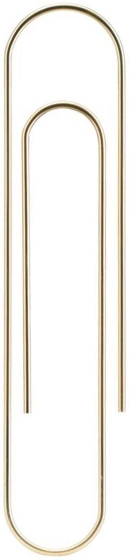 Lesezeichen Mega Clip, Metall, beschichtet, Messingfarben, 6 x 25 cm