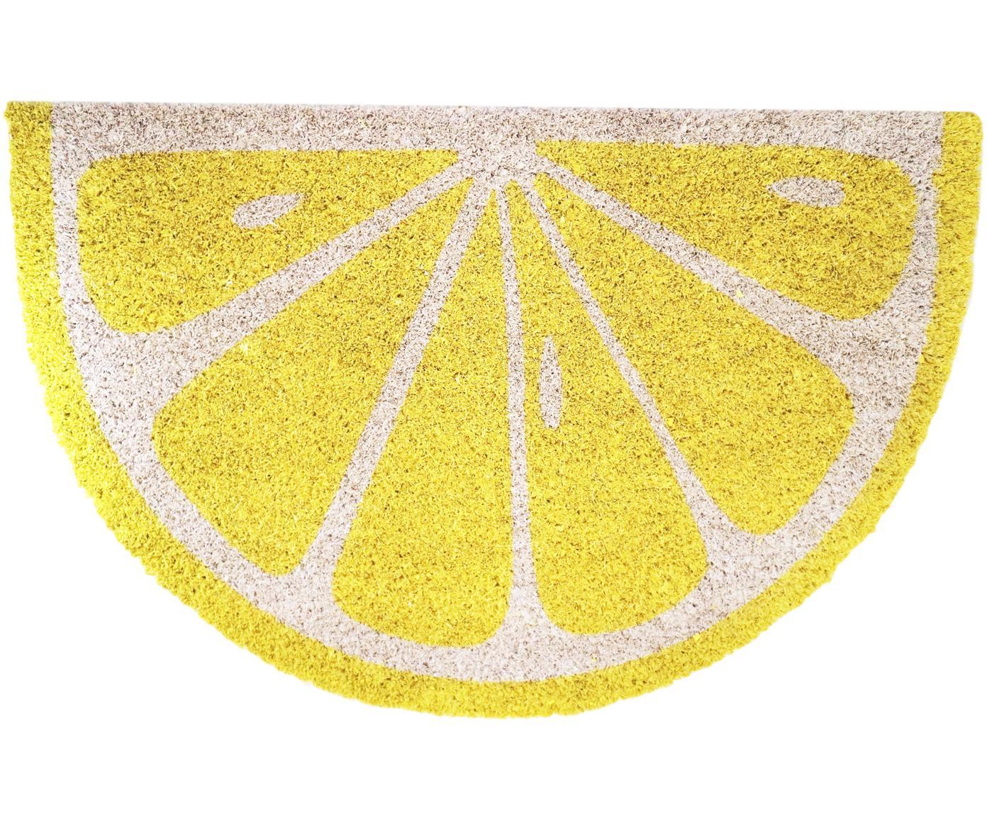 Wycieraczka Lemon, Żółty, kremowy, S 40 x D 60 cm