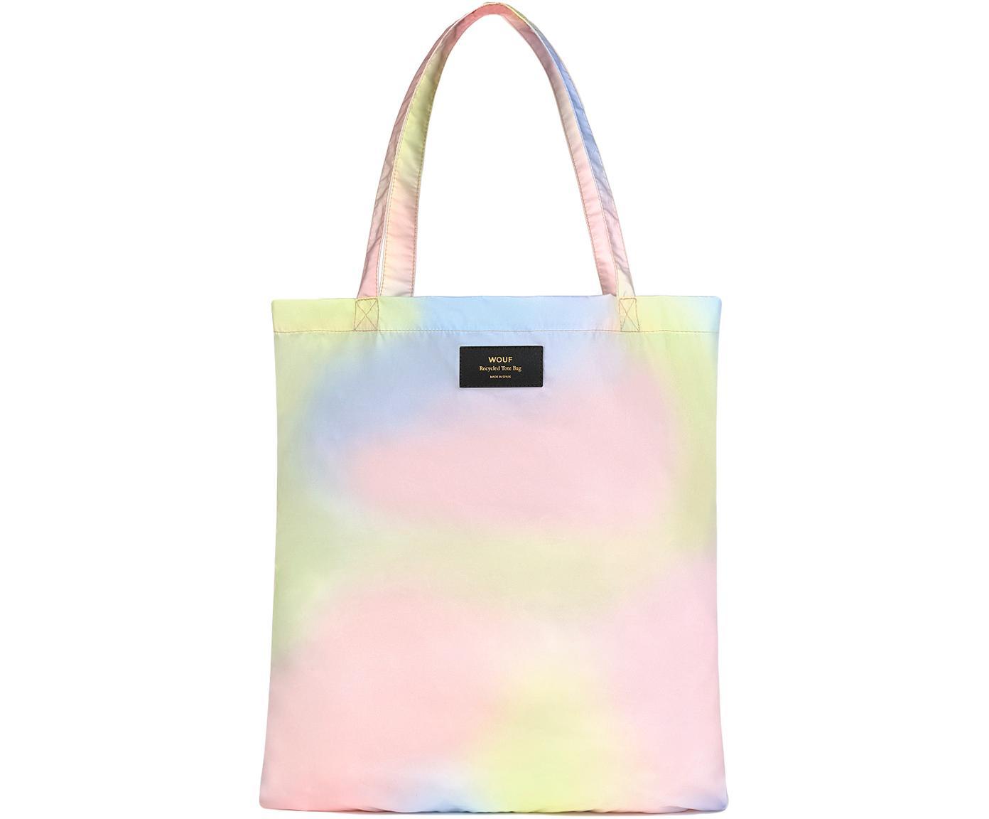 Einkaufstasche Tie Dye, Recycletes Polyester, Pastellfarben, 40 x 44 cm
