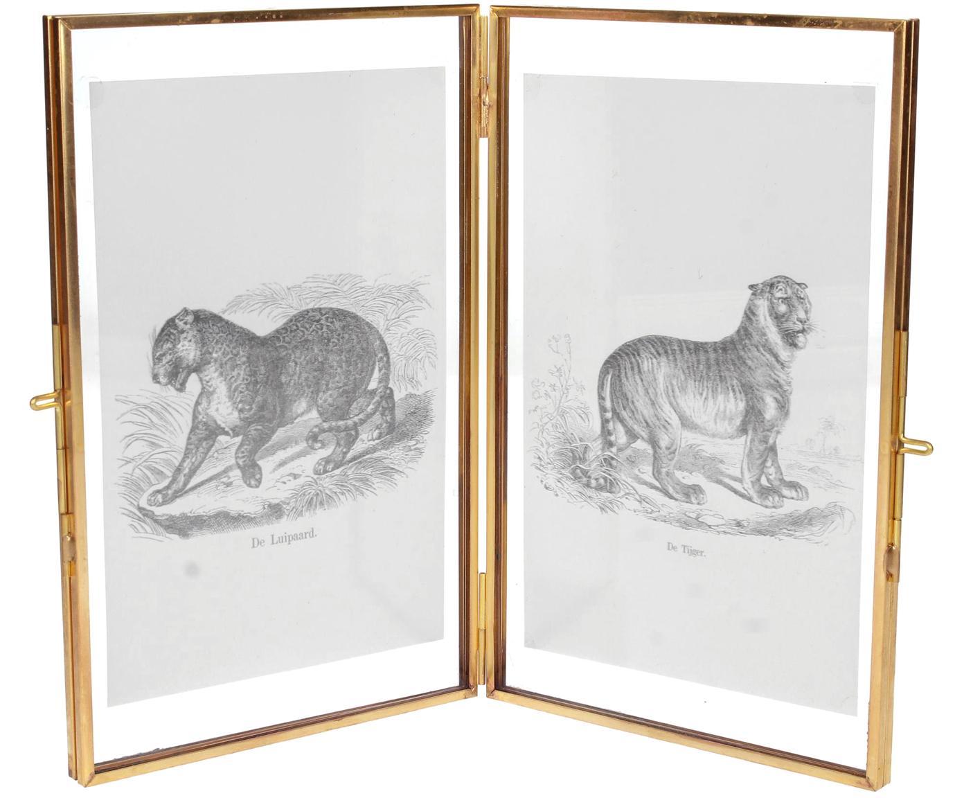 Cornice in ottone Cari, Cornice: ottone, Ottone, 10 x 15 cm