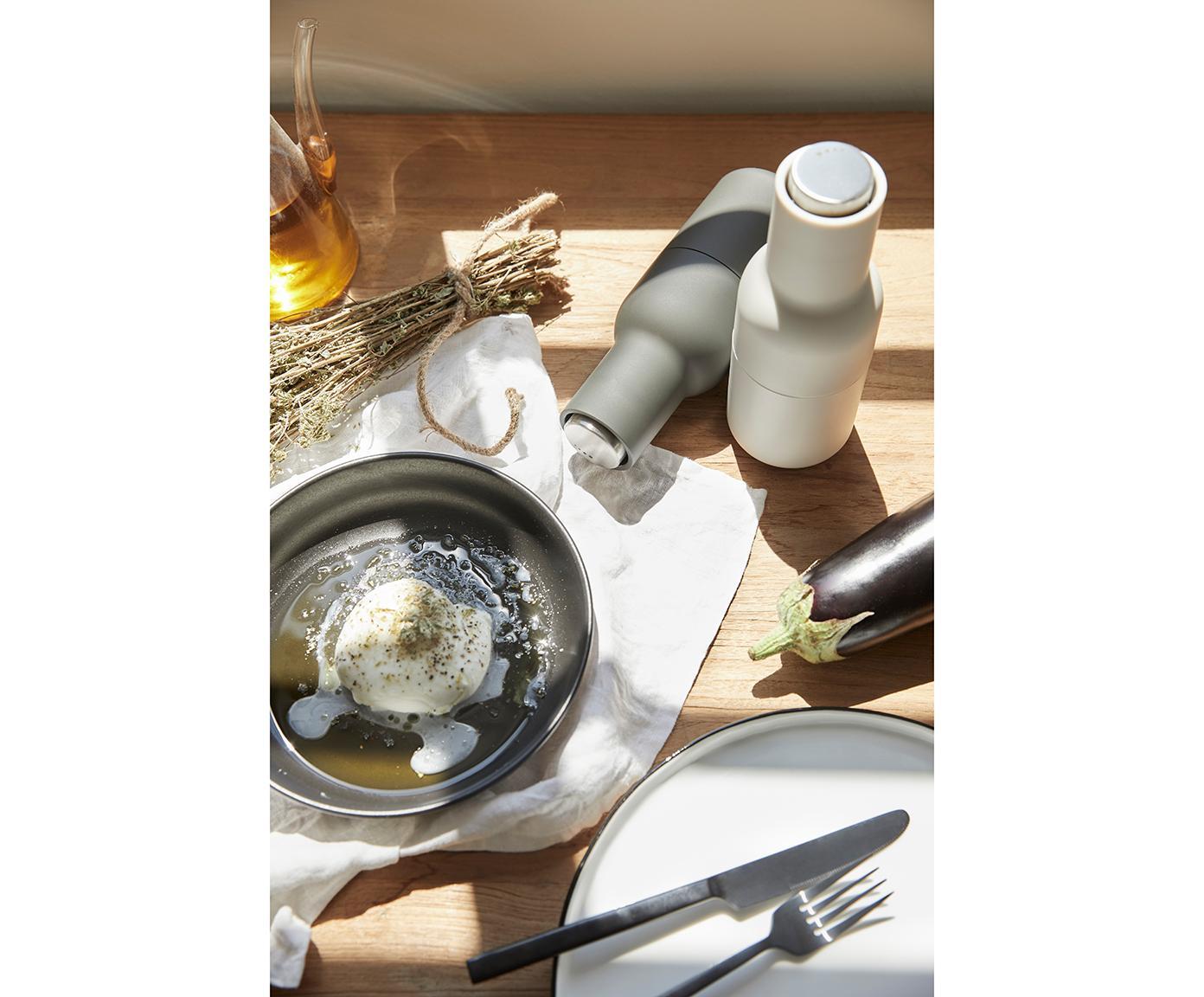 Komplet młynków Bottle Grinder, 2elem., Korpus: tworzywo sztuczne, Antracytowy, jasny szary, Ø 8 x W 21 cm