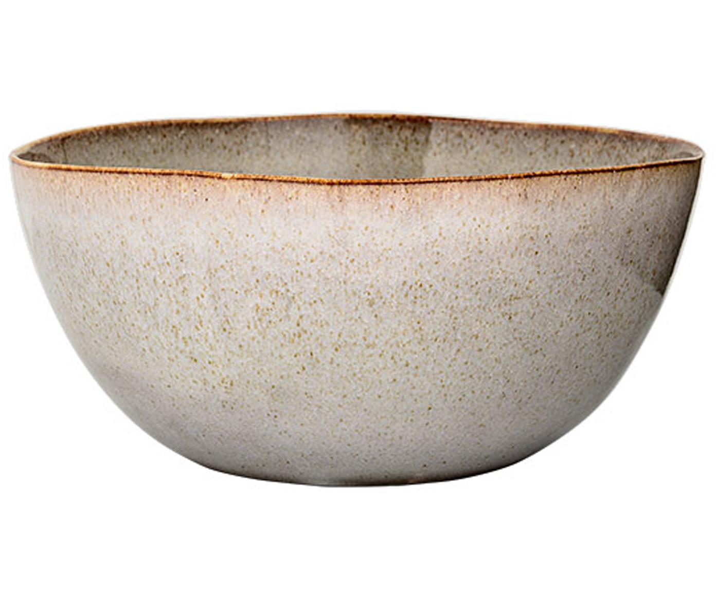 Ciotola centrotavola fatta a mano Sandrine, Ceramica, Seduta: grigio chiaro, macchiato Struttura: nero opaco, Ø 26 x Alt. 17 cm