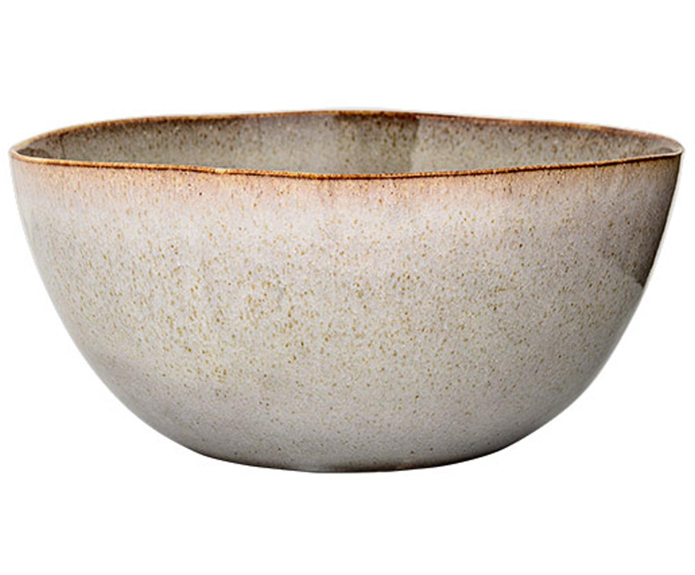 Ręcznie robiony półmisek Sandrine, Ceramika, Jasnoszary, Ø 26 x 17 cm