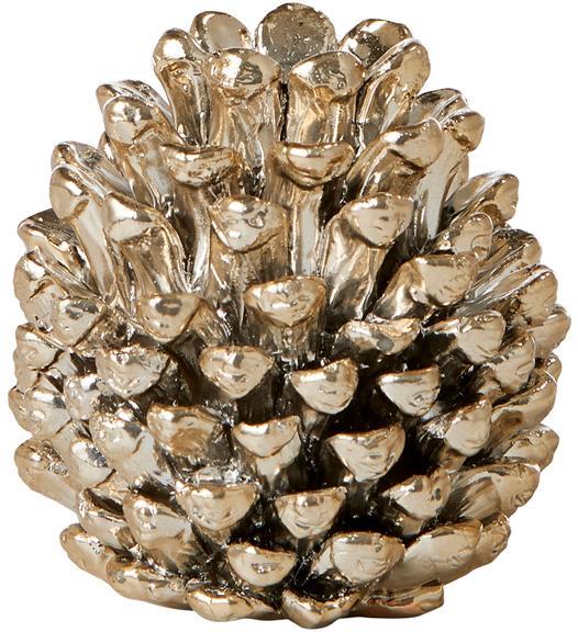 Kerzenhalter Serafina Cone, Polyresin, Goldfarben, Ø 6 x H 6 cm