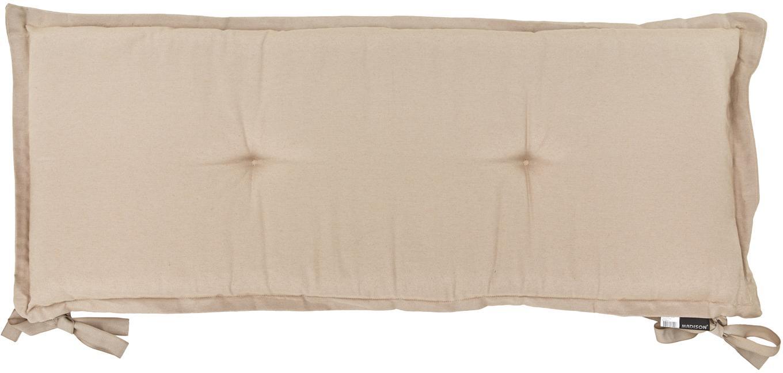 Einfarbige Bankauflage Panama, Bezug: 50% Baumwolle, 45% Polyes, Sandfarben, 48 x 150 cm
