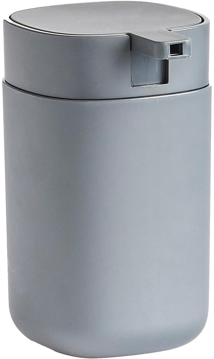 Dozownik do mydła Yilma, Tworzywo sztuczne, Szary, S 9 x W 12 cm