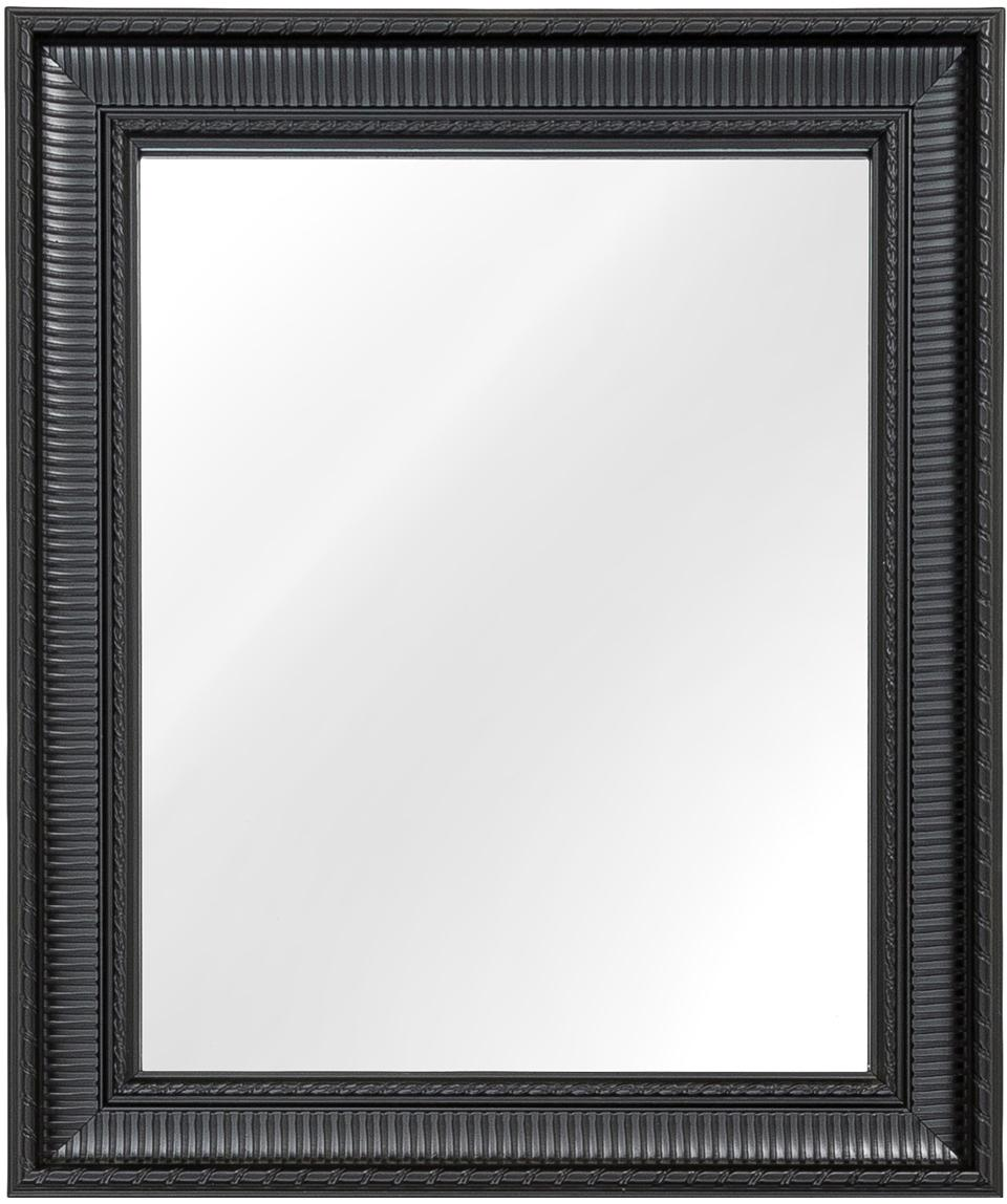Espejo de pared Paris, Parte trasera: tablero de fibras de dens, Espejo: cristal, Marco: negro Espejo: cristal, An 52 x Al 62 cm