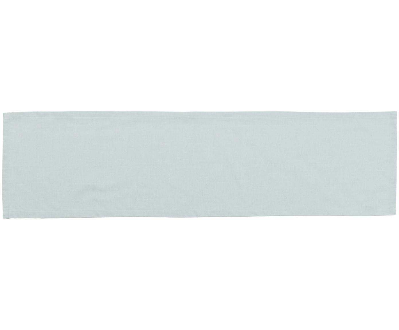 Runner da tavolo Riva, Verde menta, Larg. 40 x Lung. 150 cm