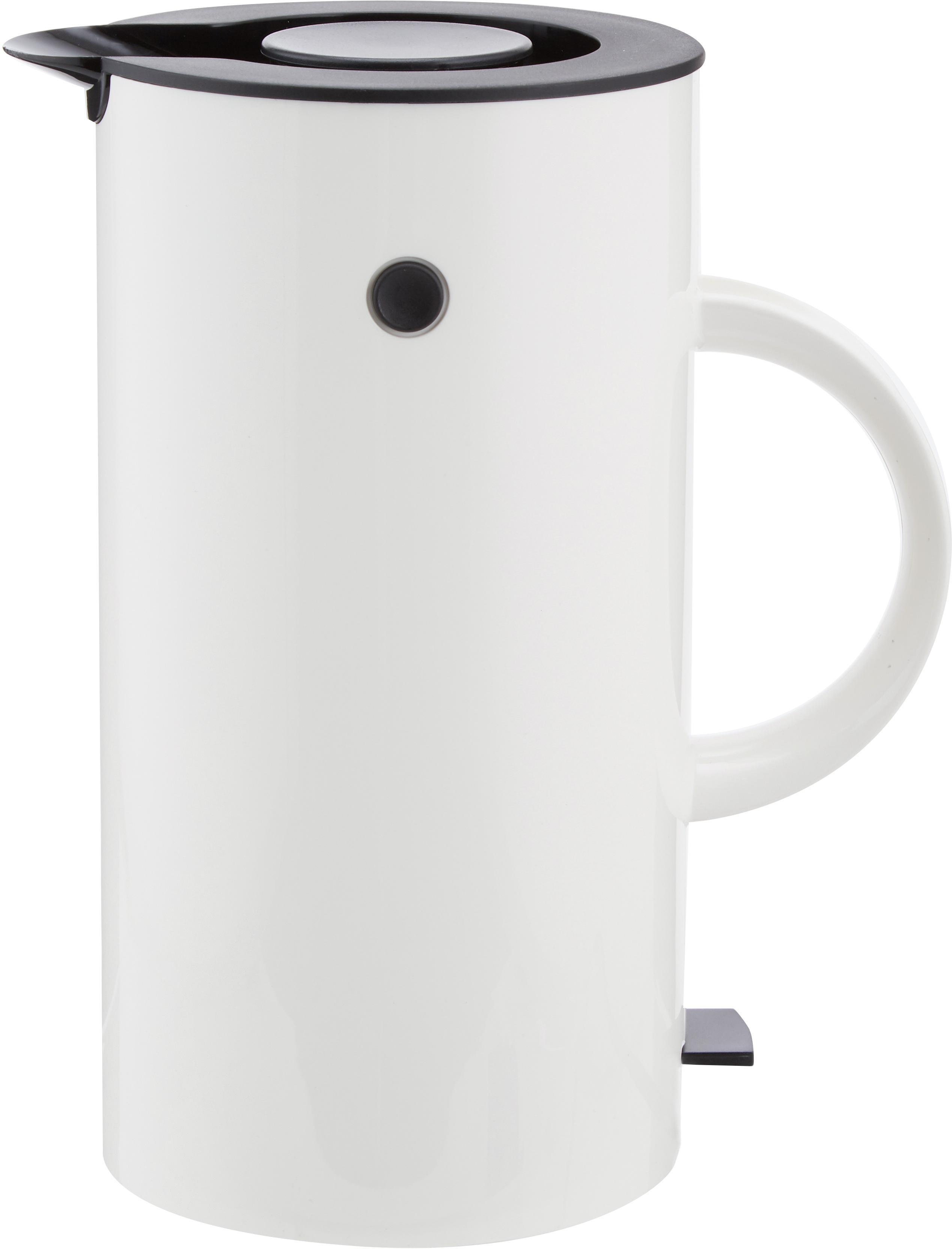 Bollitore elettrico in bianco lucido EM77, Bianco, nero, 1,5 L