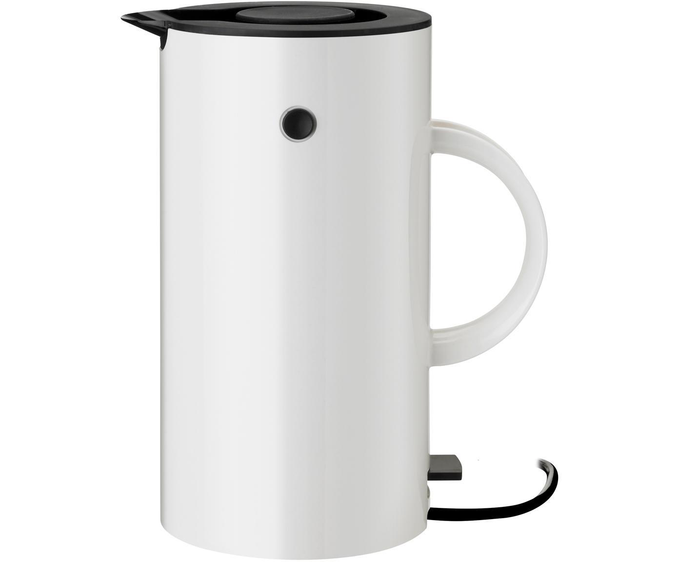 Wasserkocher EM77 in Weiss glänzend, Gehäuse: Metall, beschichtet, Weiss, Schwarz, 1,5 L
