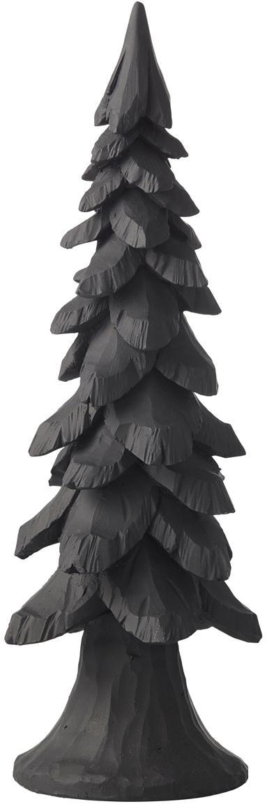 Figura decorativa artesanal Tree, Poliresina, Negro, Ø 11