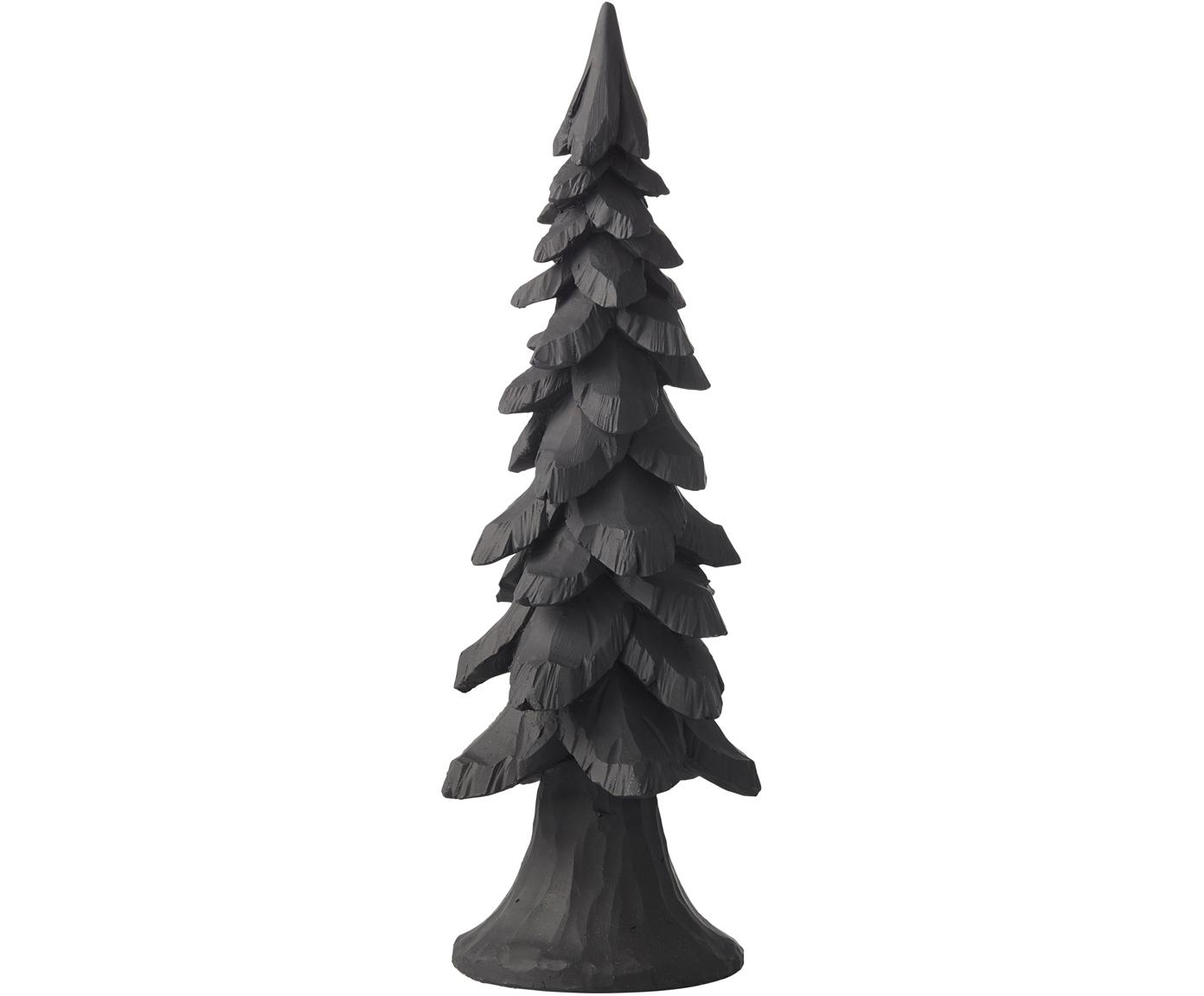 Handgefertigtes Deko-Objekt Tree, Polyresin, Schwarz, Ø 11 x H 34 cm