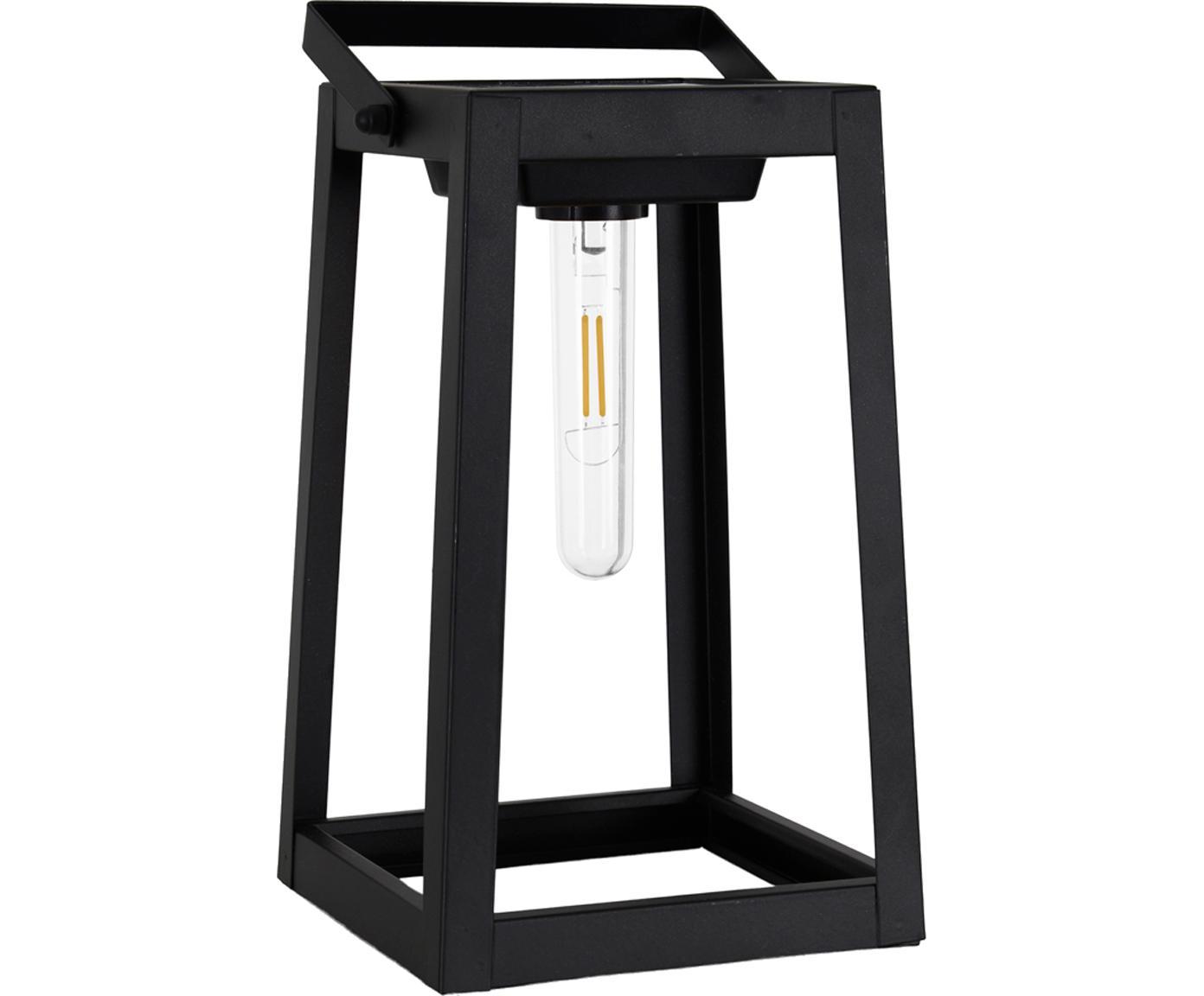 Lámpara móvil solar LED Tippy, Metal, plástico, Negro, L 15 x Al 31 cm