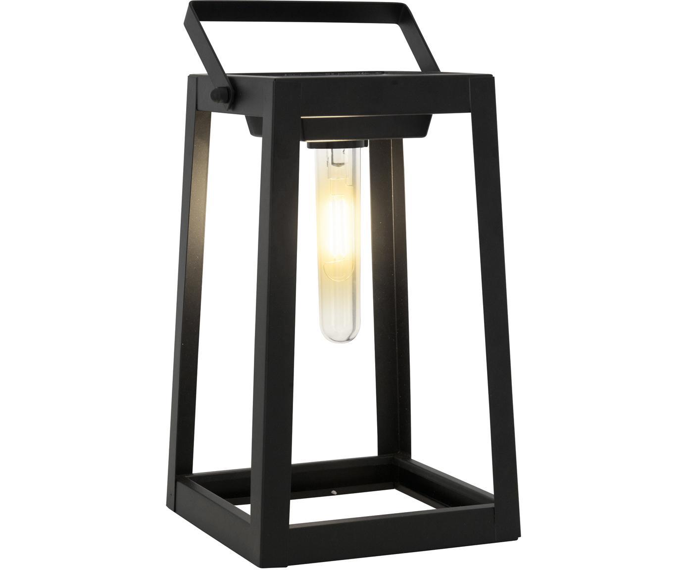 Lampa solarna LED Tippy, Metal, tworzywo sztuczne, Czarny, D 15 x W 31 cm