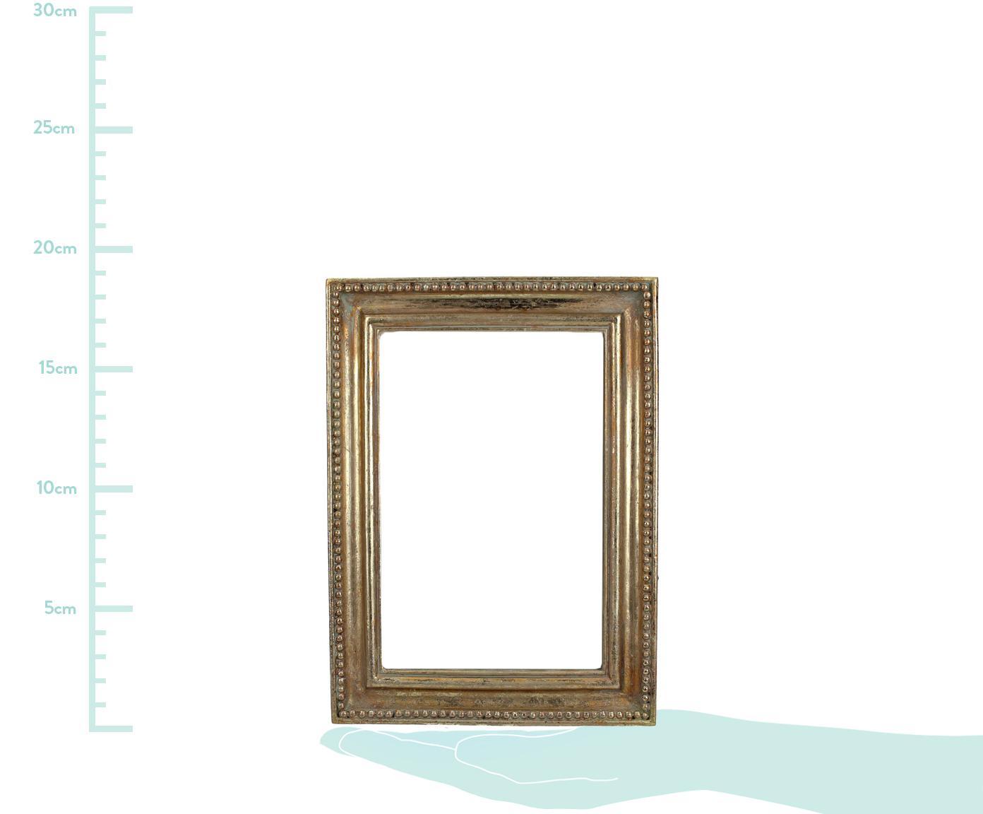 Bilderrahmen Antique, Rahmen: Polyresin, Front: Glas, Goldfarben, 10 x 15 cm