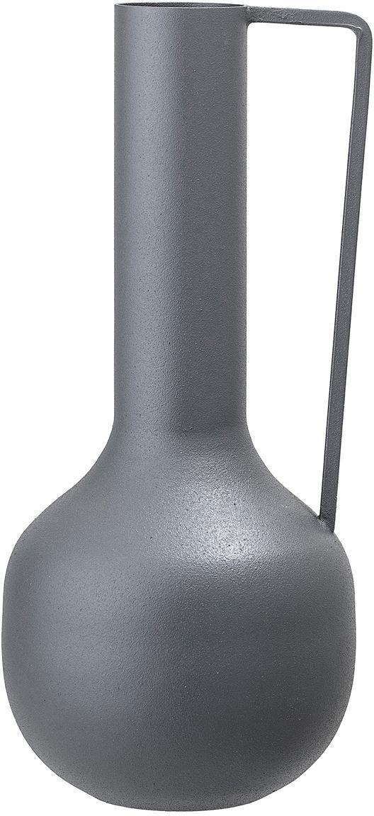 Vaso in metallo Trend, Metallo rivestito, Grigio, Ø 10 x Alt. 25 cm