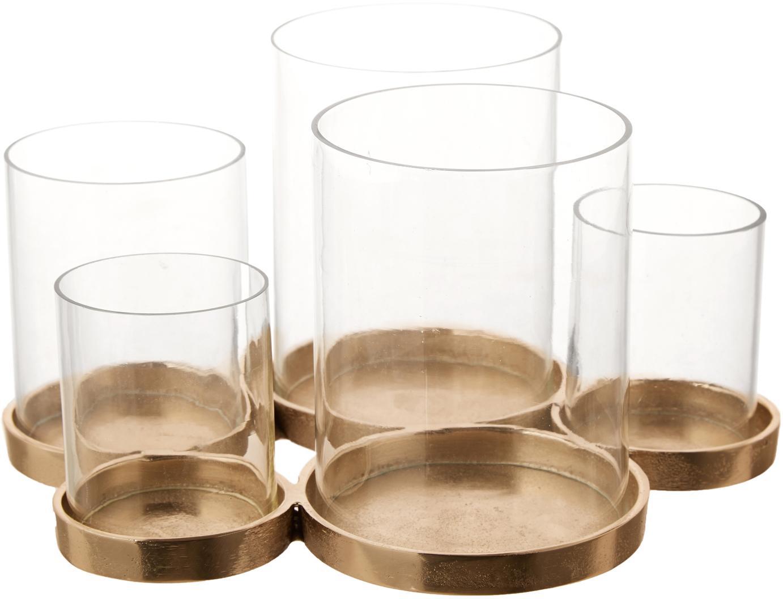 Portacandela Myra, Portacandela: vetro, Champagne, Larg. 26 x Alt. 14 cm
