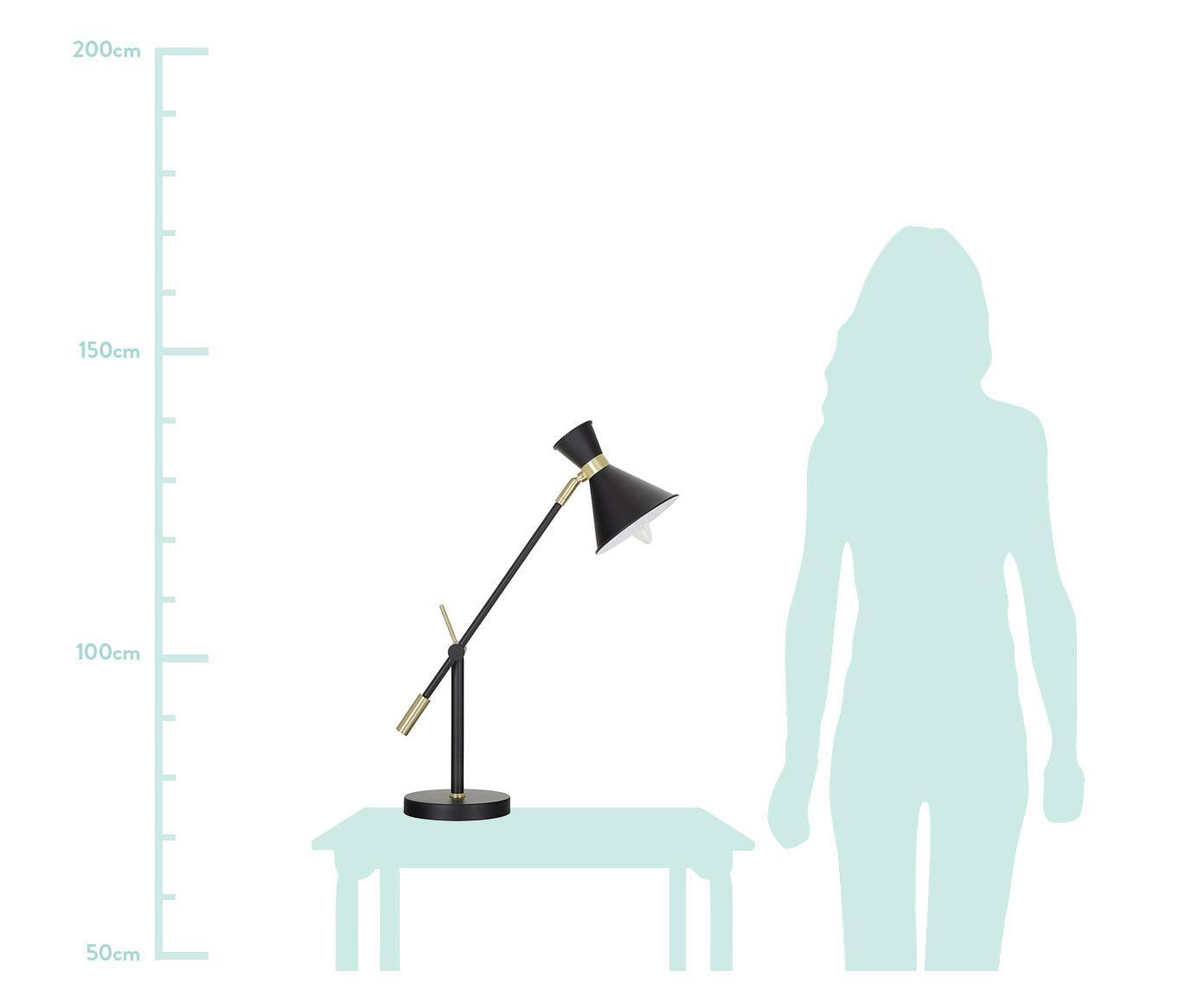 Lampa stołowa Audrey, Czarny, matowy, ∅ 15 x W 68 cm