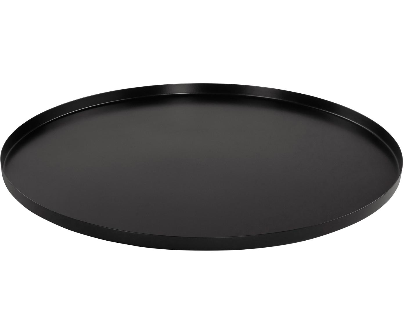 Dienblad Tolne, Aluminium, Zwart, Ø 50 cm