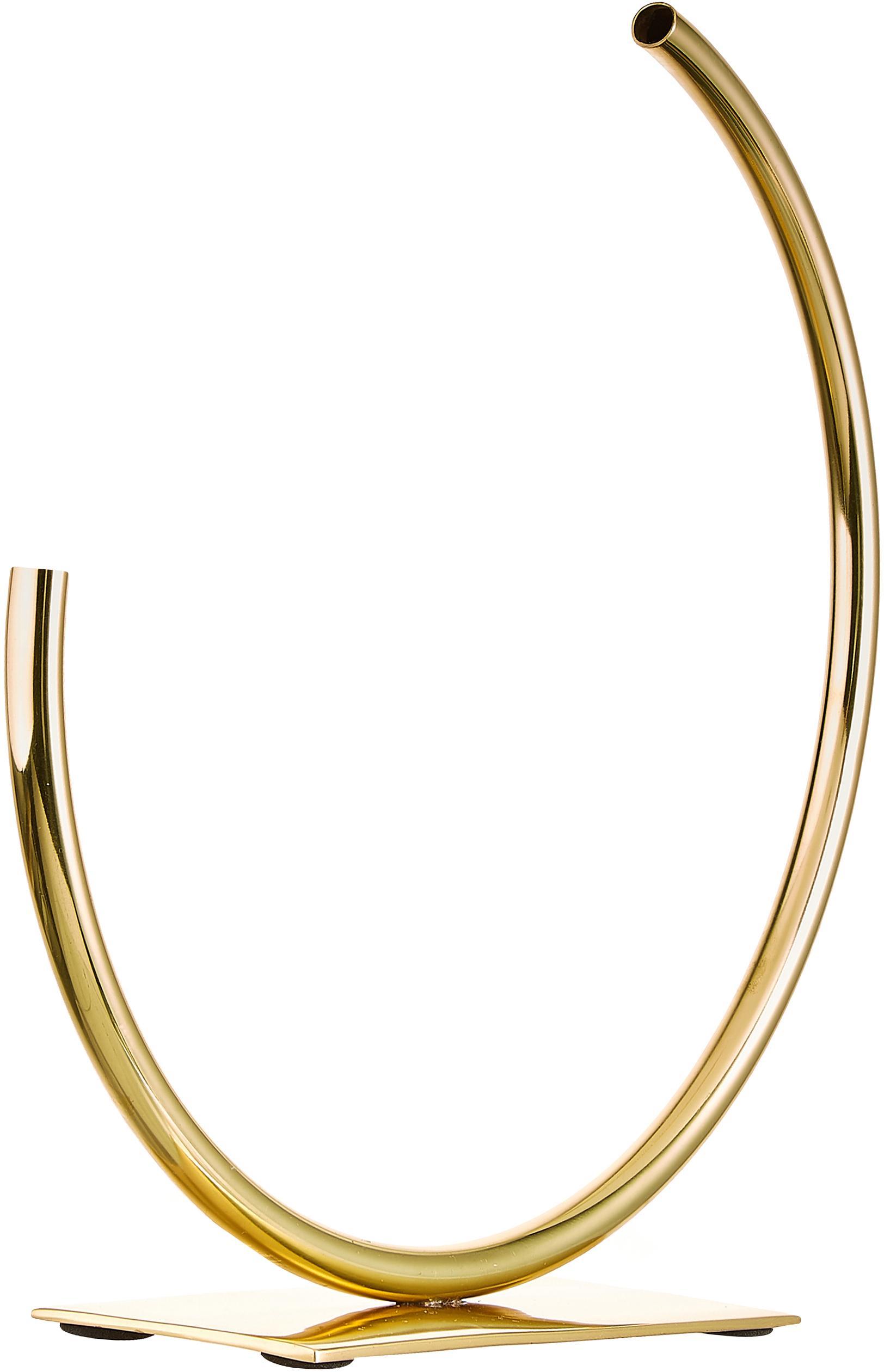 Dekoracja Circle U, Metal, Odcienie złotego, S 29 x W 30 cm