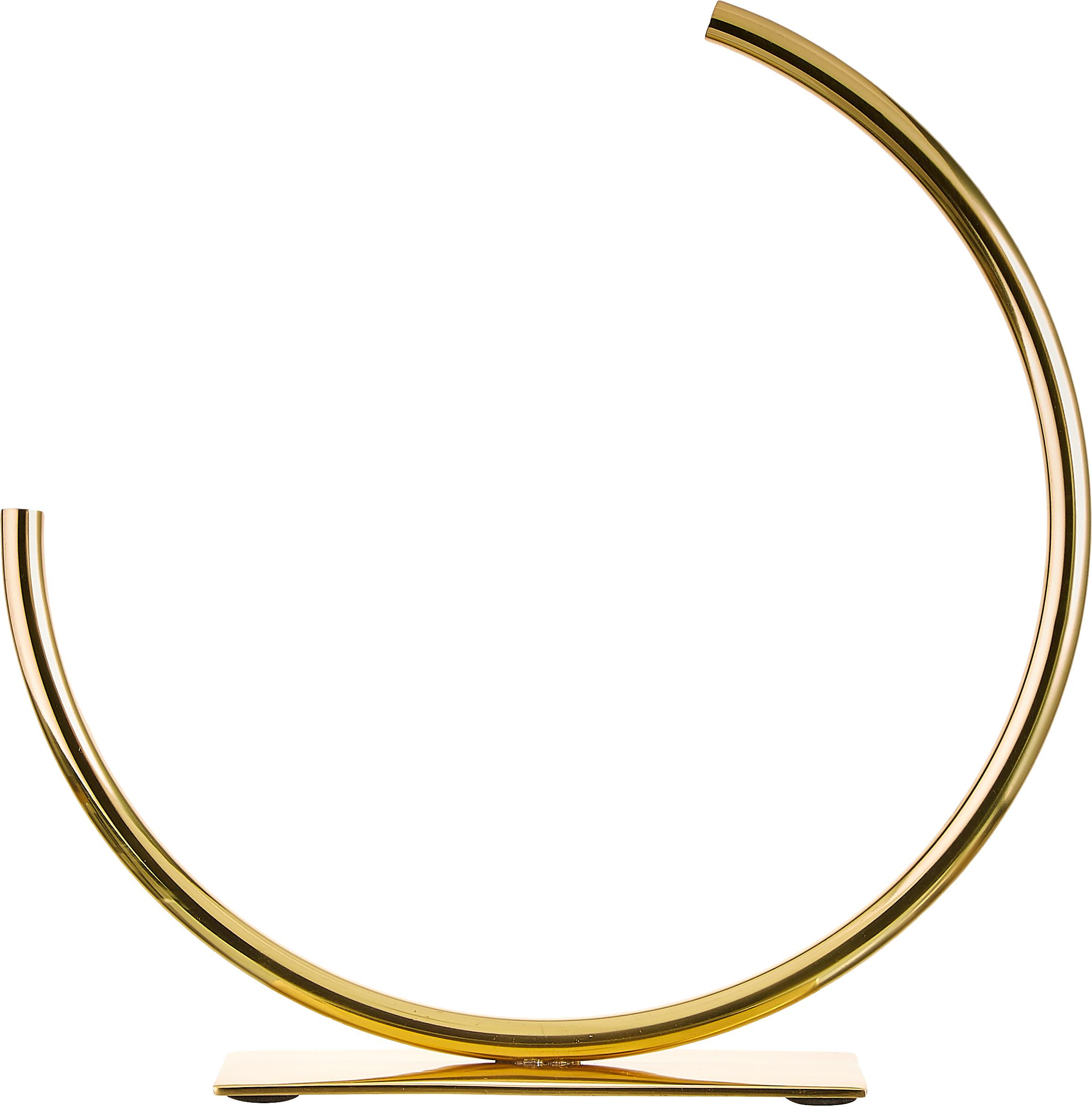 Vaso in metallo in metallo Circle, Metallo, Dorato, Larg. 29 x Alt. 30 cm