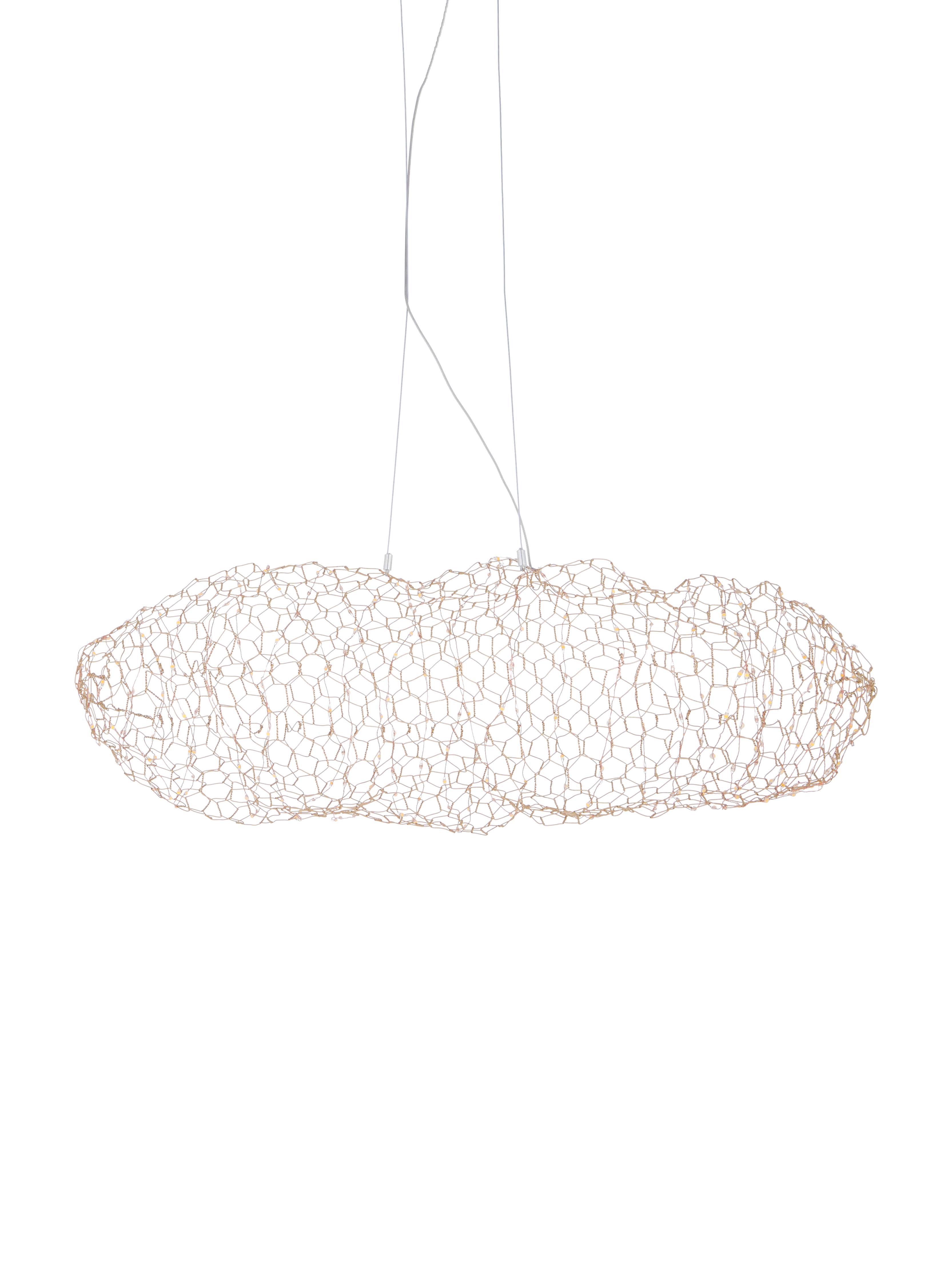 Lampada a sospensione a LED Hayden, Ottone, Ottonato, Larg. 76 x Alt. 27 cm