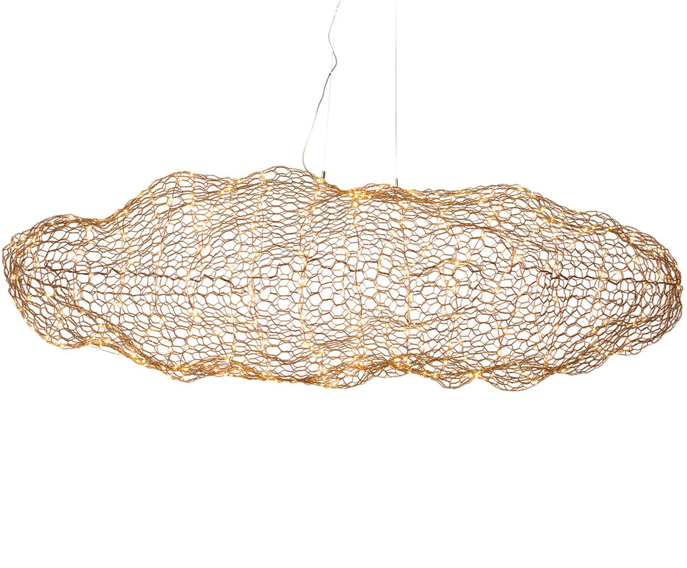 Lámpara de techo grande LED Hayden, Cable: plástico, Latón, An 76 x Al 27 cm