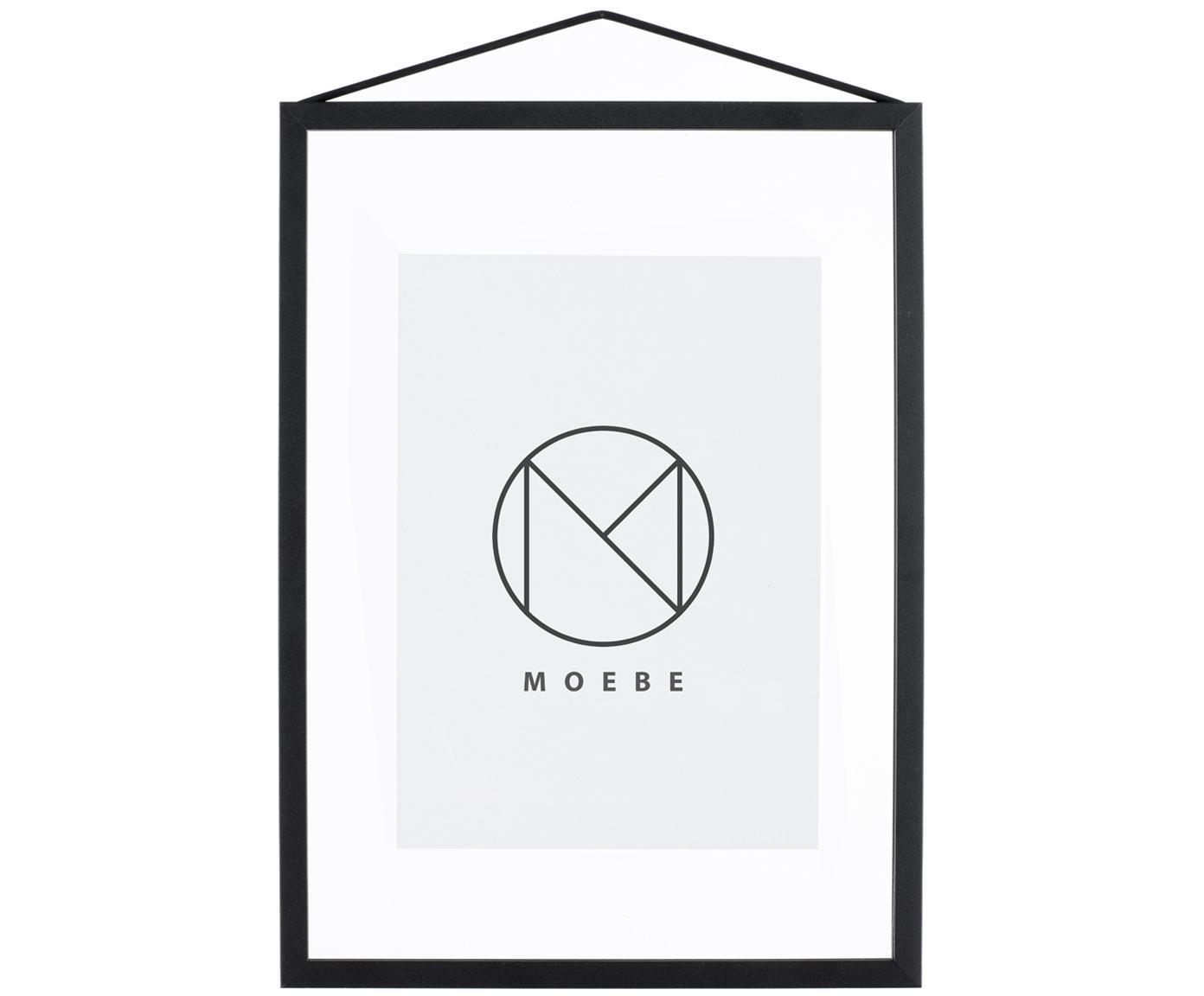 Marco Frame, Marco: negro Suspension: negro Cristal y parte trasera: transparente, An 23 x Al 31 cm
