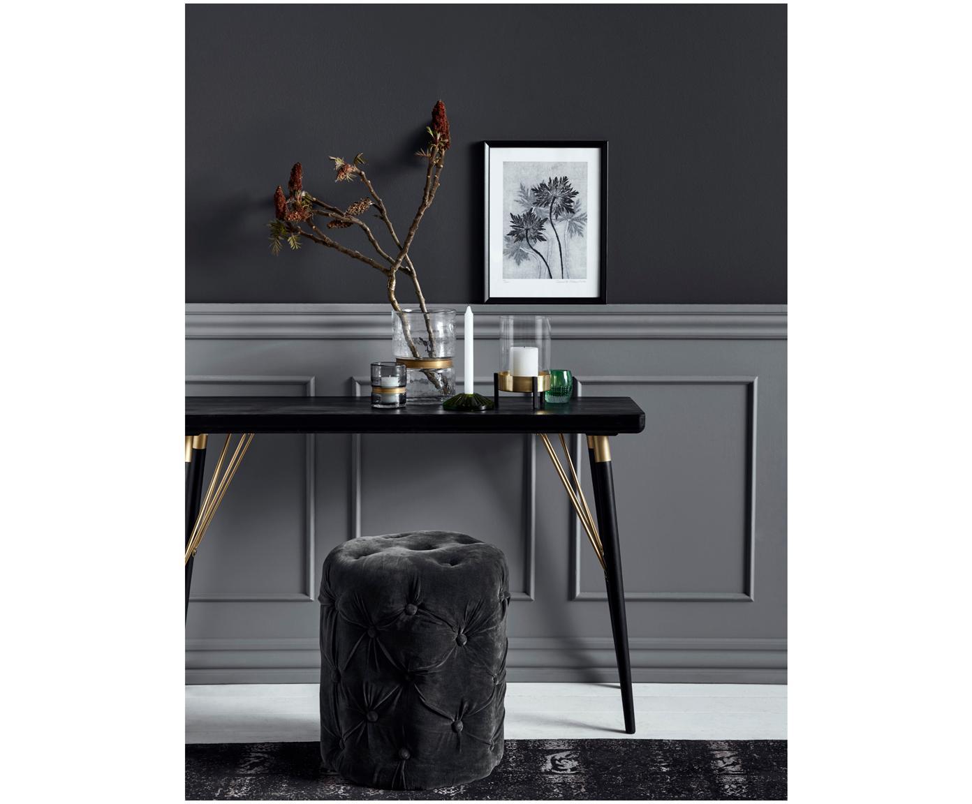 Konsola Jana, Nogi: metal lakierowany, Czarny, odcienie złotego, S 120 x G 40 cm