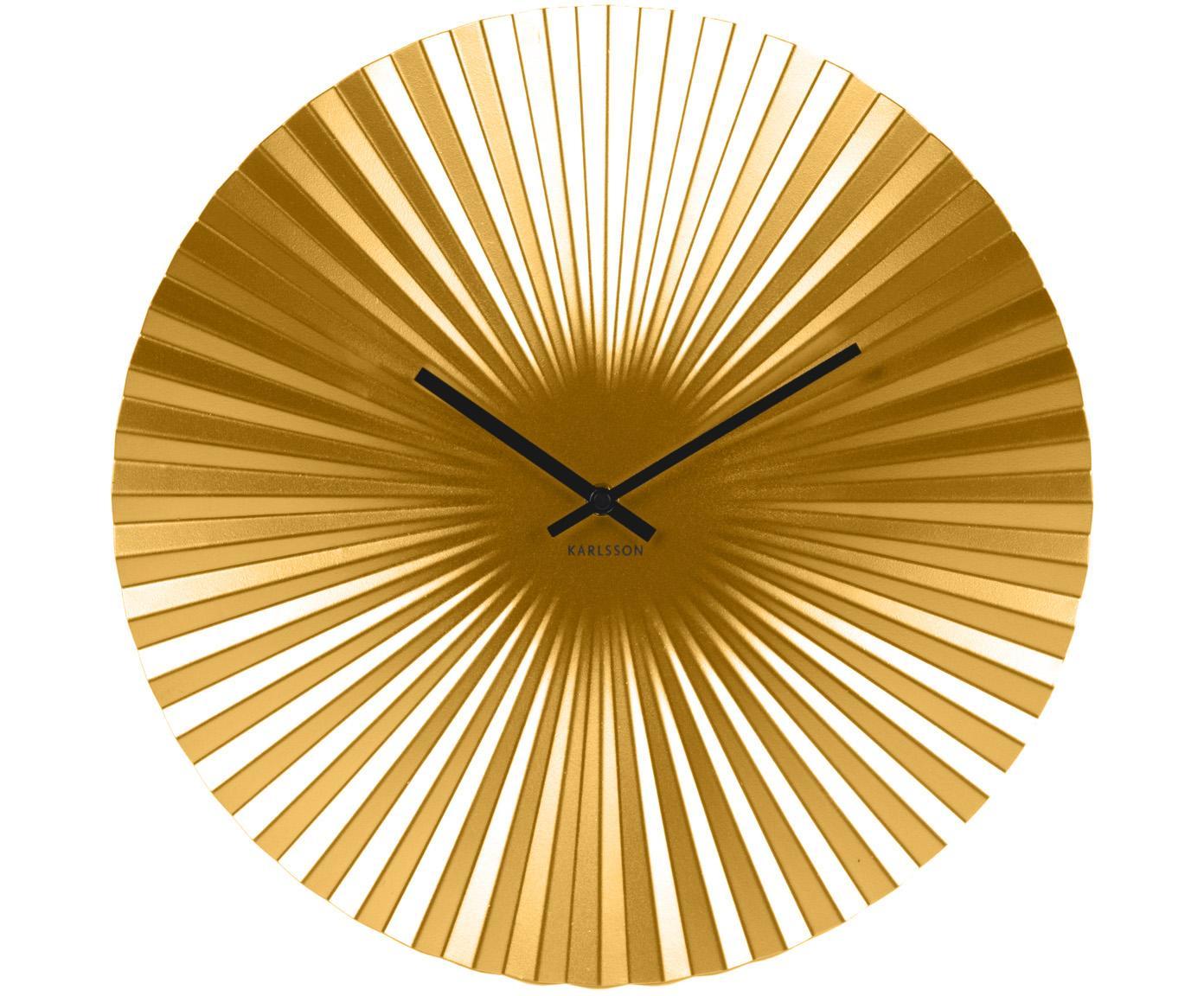 Wanduhr Sensu, Ziffernblatt: Stahl, lackiert, Zeiger: Metall, Goldfarben, Ø 40 cm