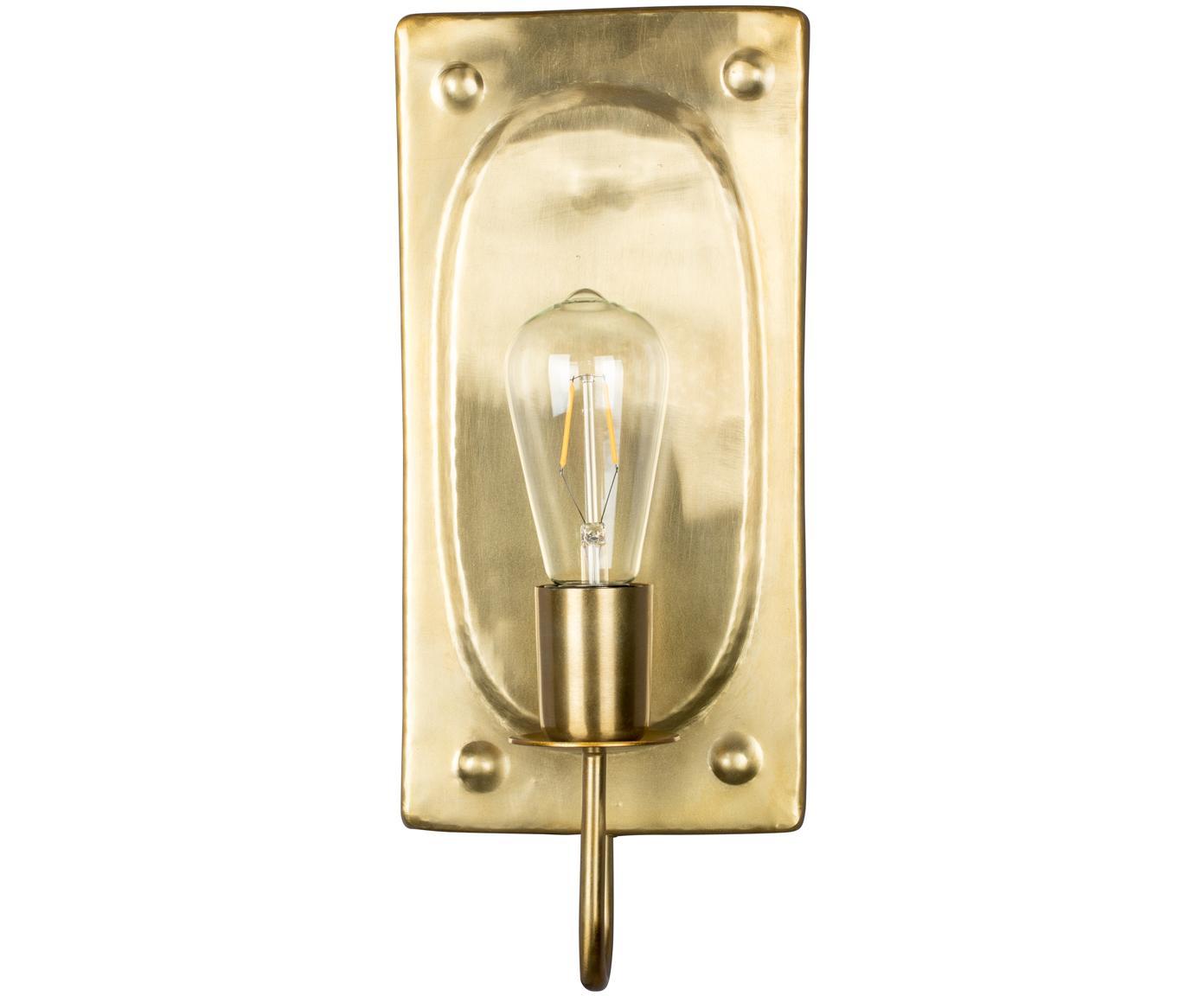 Wandlamp Brody, Messingkleurig, 16 x 38 cm