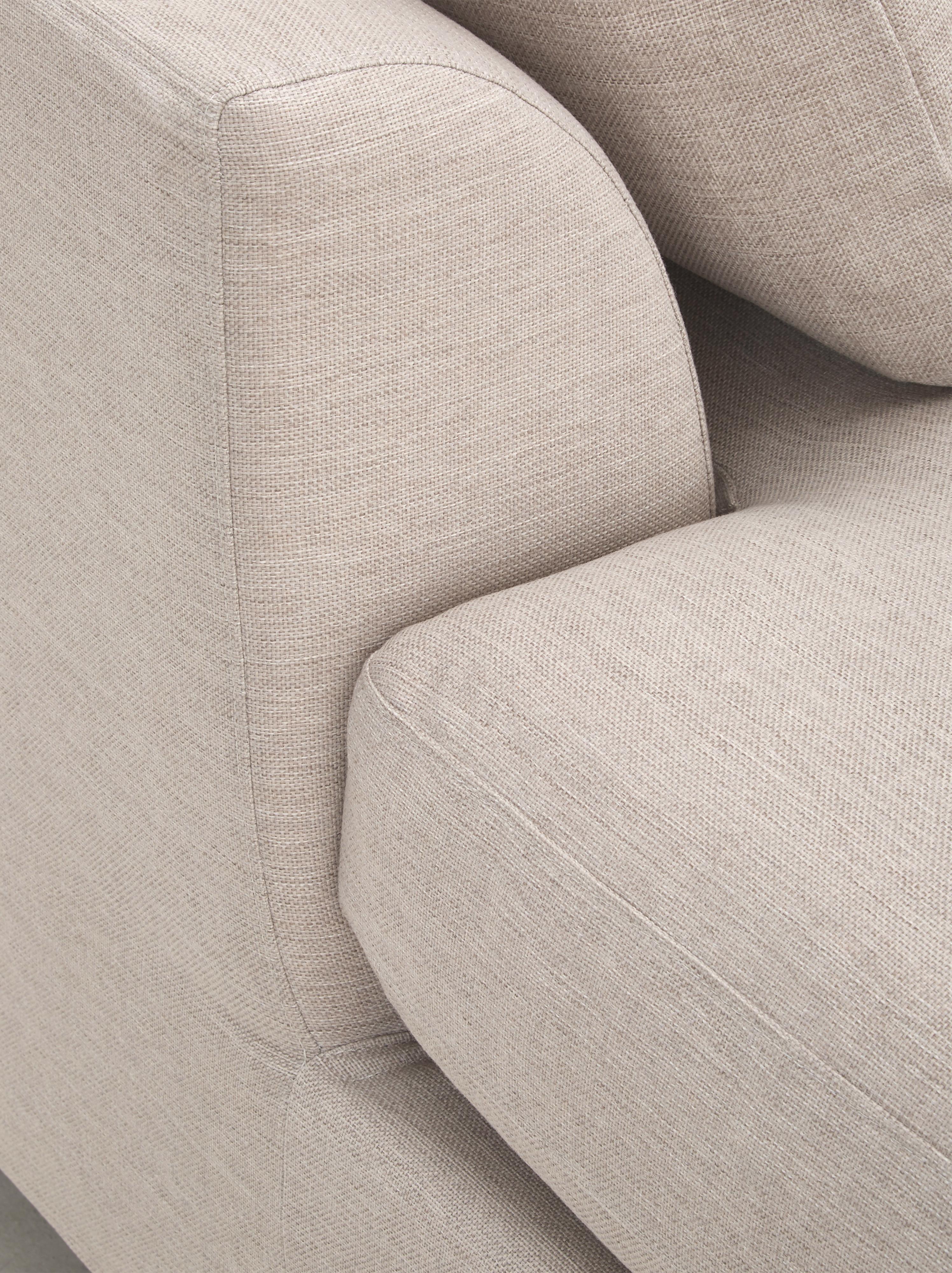 Sofá rinconero Zach, Tapizado: polipropileno, Patas: plástico, Estructura: aglomerado y madera maciz, Beige, An 300 x F 213 cm