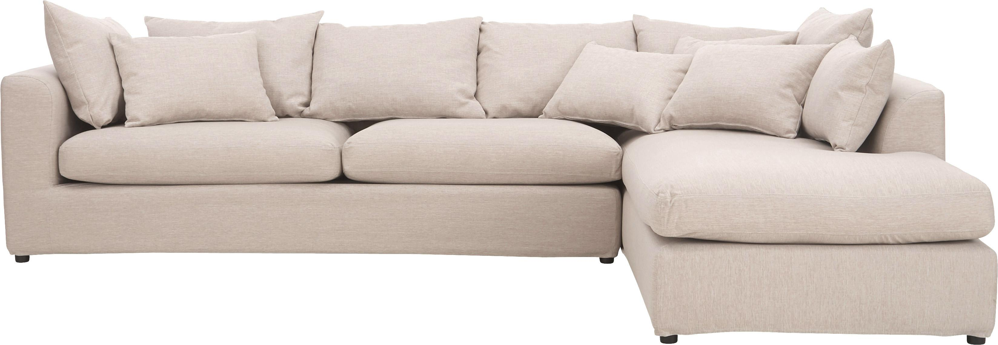 Canapé d'angle Zach, Tissu beige