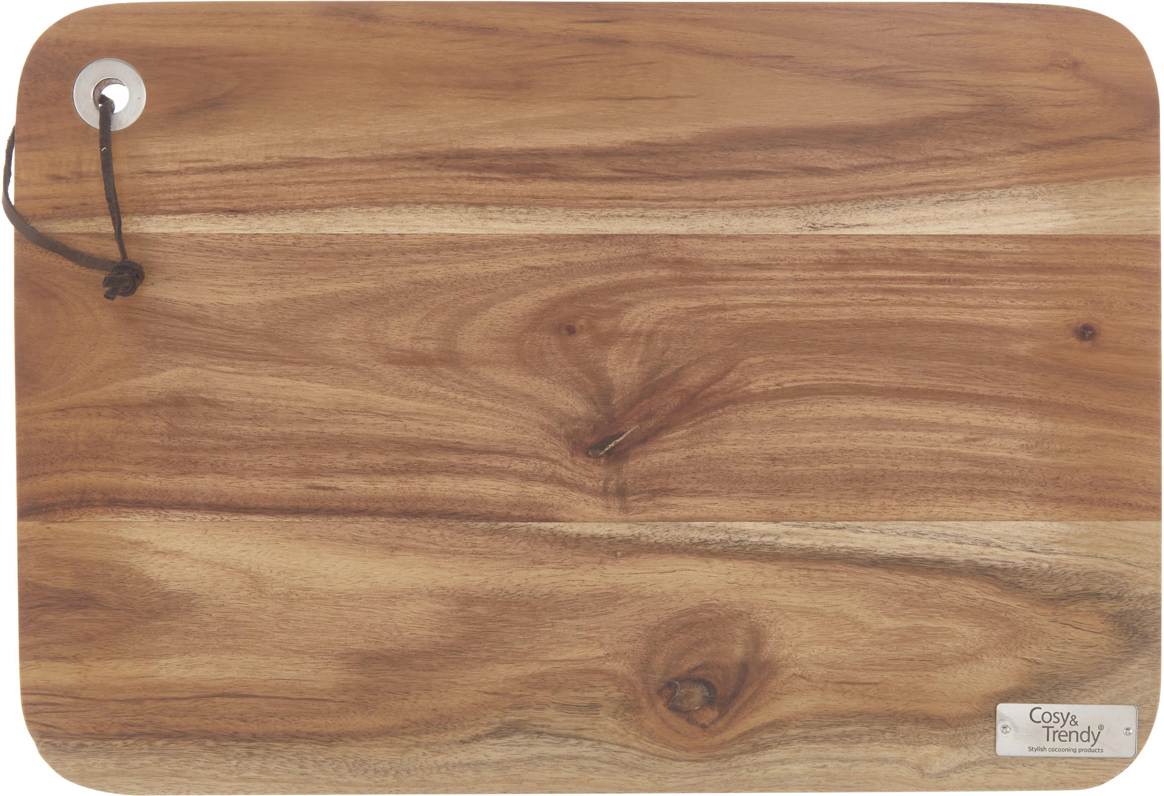 Tabla de cortar Acacia, Madera de acacia, Madera de acacia, An 33 x F 23 cm