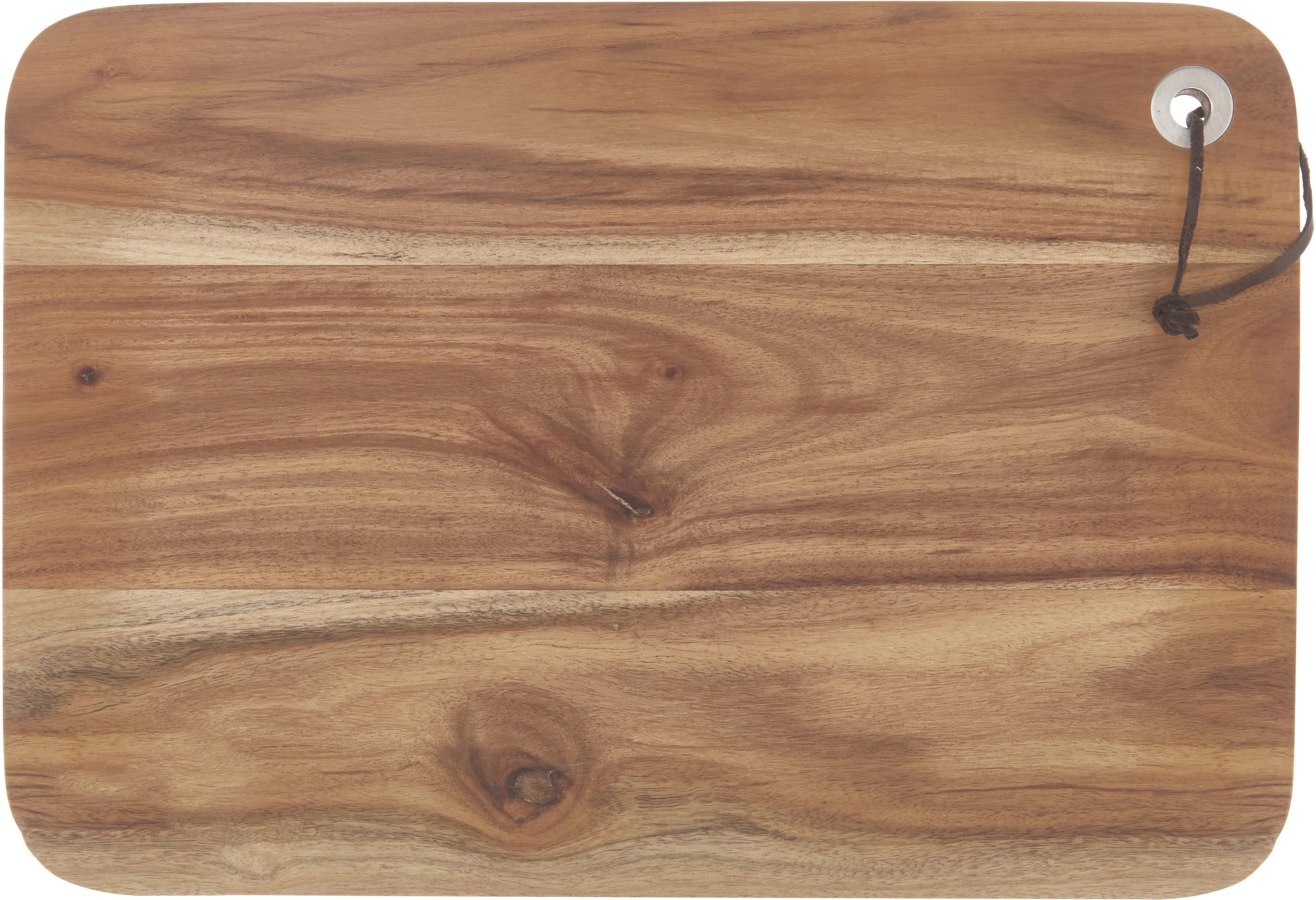 Schneidebrett Acacia, Akazienholz, Akazienholz, B 33 x T 23 cm