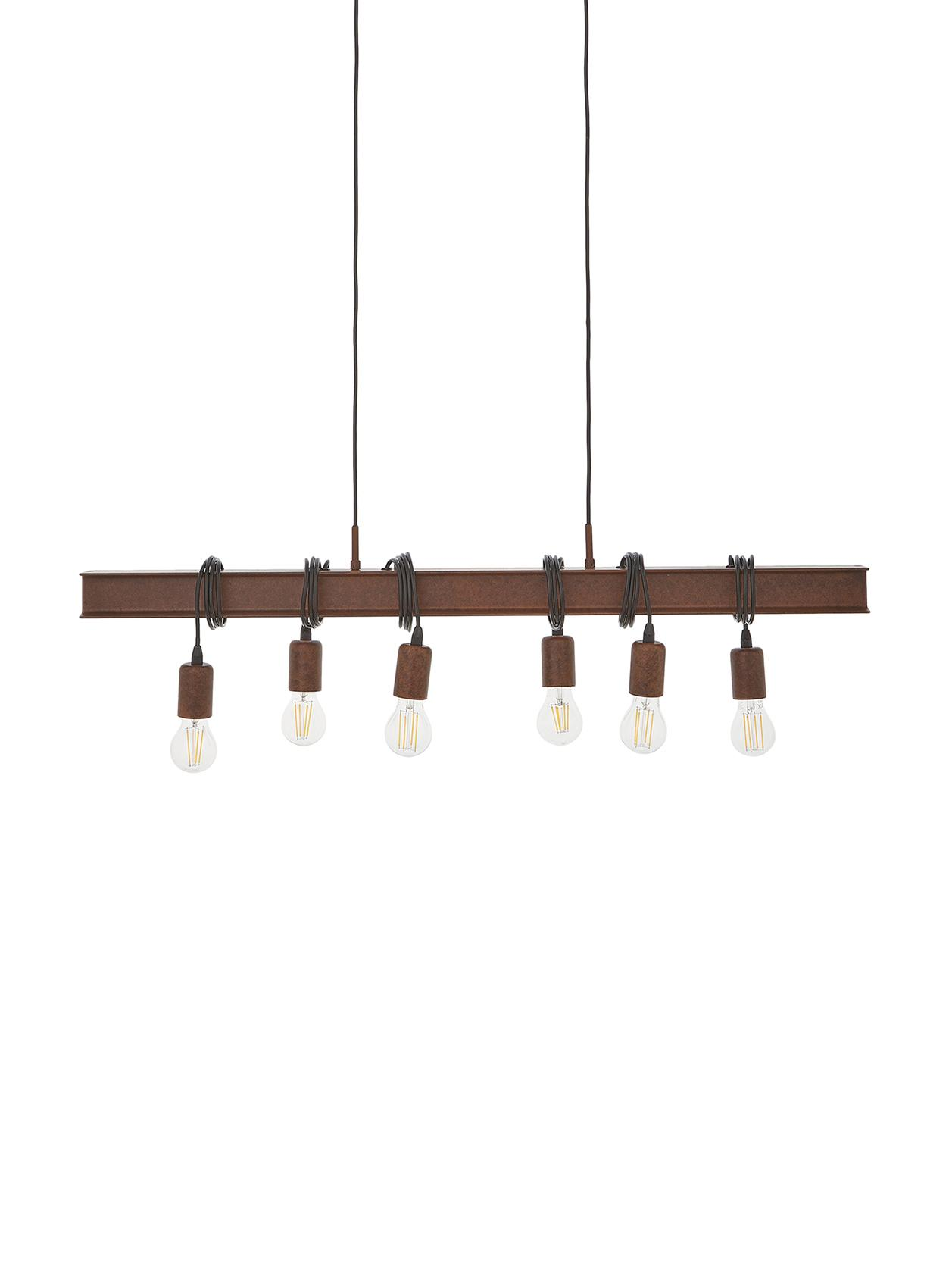 Grote hanglamp Townshend, Bruin, 101 x 22 cm