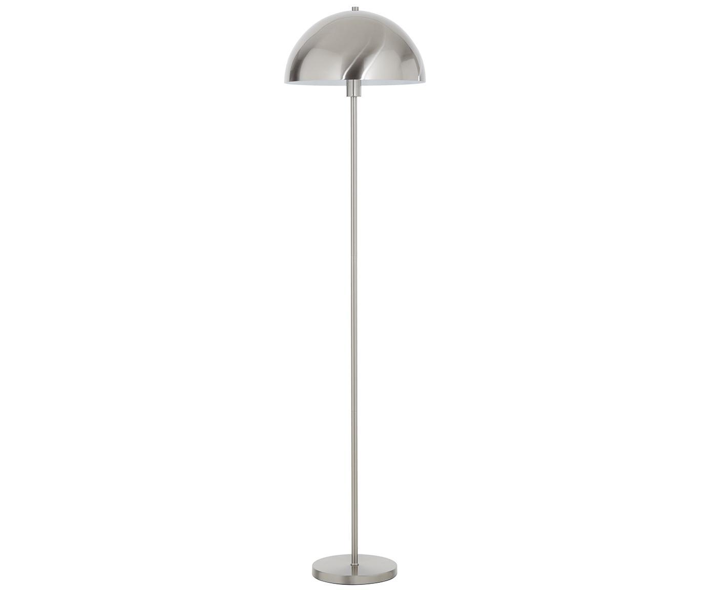 Stehlampe Matilda, Lampenschirm: Metall, gebürstet, Lampenfuß: Metall, gebürstet, Silberfarben, Ø 40 x H 164 cm