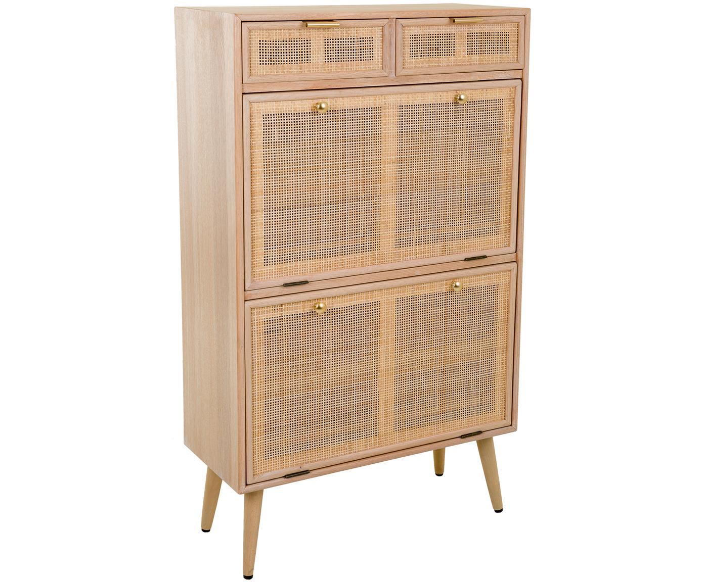 Zapatero Cayetana, Estructura: madera, Beige, An 70 x Al 120 cm
