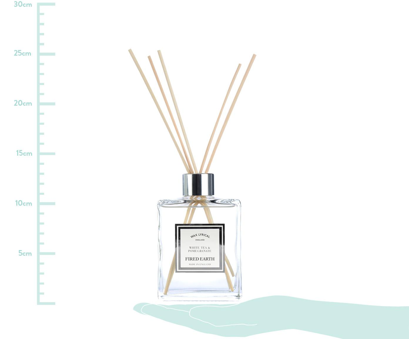 Dyfuzor zapachowy Fired Earth (biała herbata i granat), Transparentny, S 9 x W 25 cm