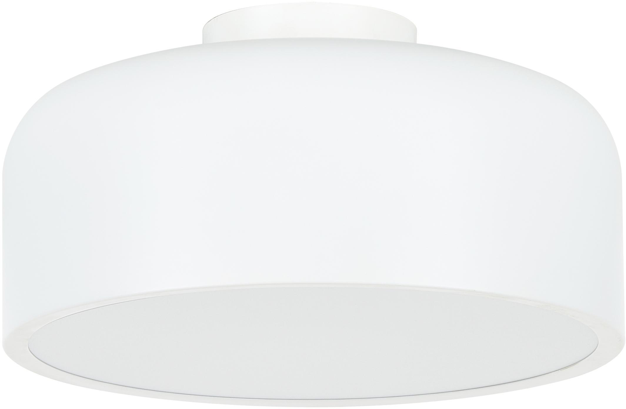 Plafondlamp Ole, Diffuser: acryl, Mat wit, Ø 35 x H 18 cm