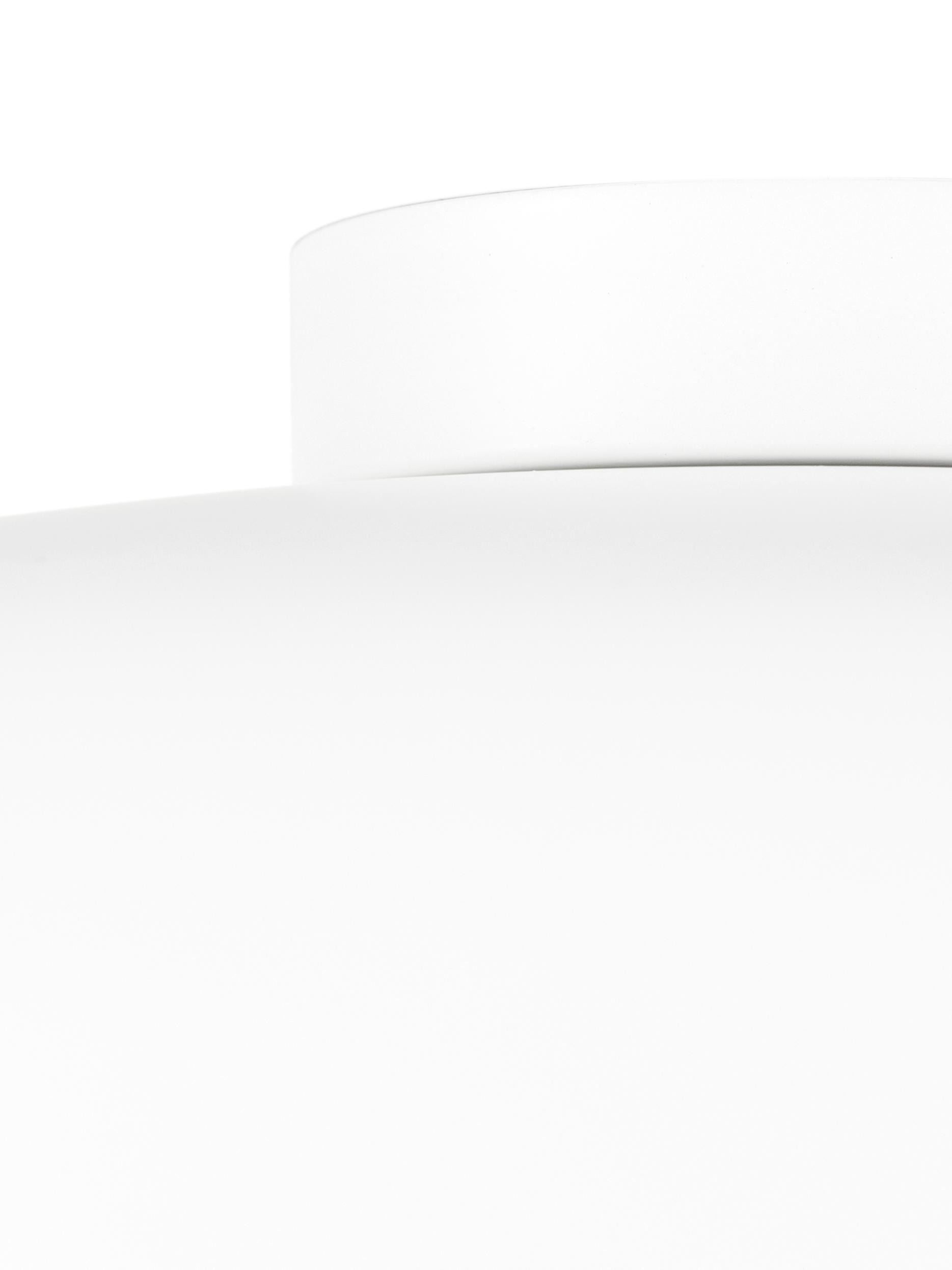 Plafoniera stile nordico Ole, Disco diffusore: acrilico, Bianco opaco, Ø 35 x Alt. 18 cm