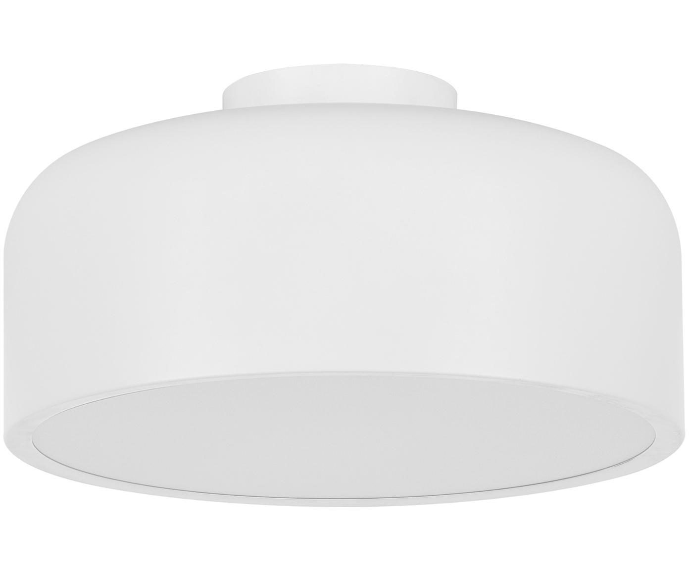 Skandi-Deckenleuchte Ole, Diffusorscheibe: Acryl, Weiß, matt, Ø 35 x H 18 cm