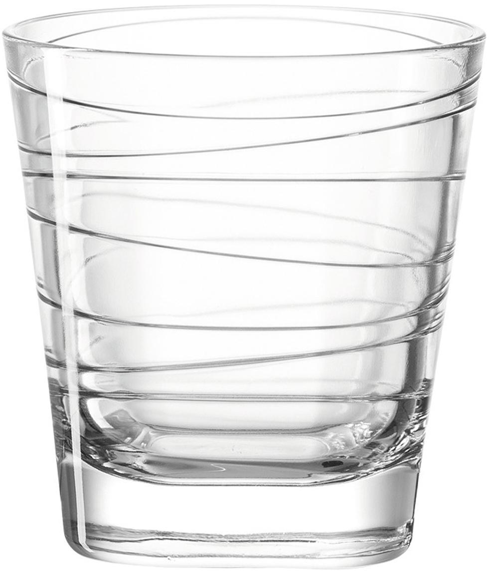 Waterglazen Vario met fijne lijnen, 6-delig, Natriumkalkglas, Transparant, Ø 8 x H 9 cm