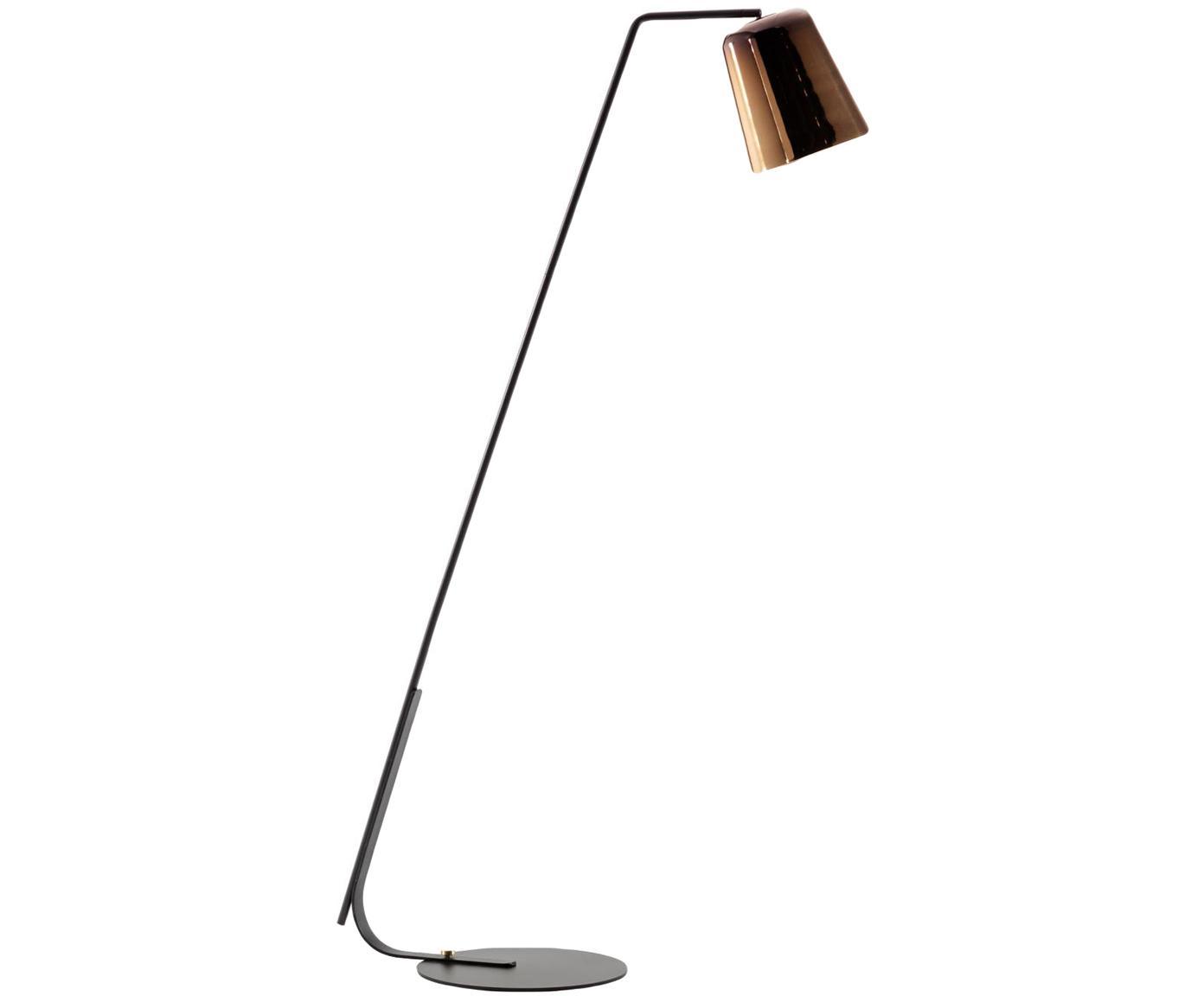 Lampada da terra Anina, Metallo, Nero, ottonato, Larg. 103 x Alt. 171 cm