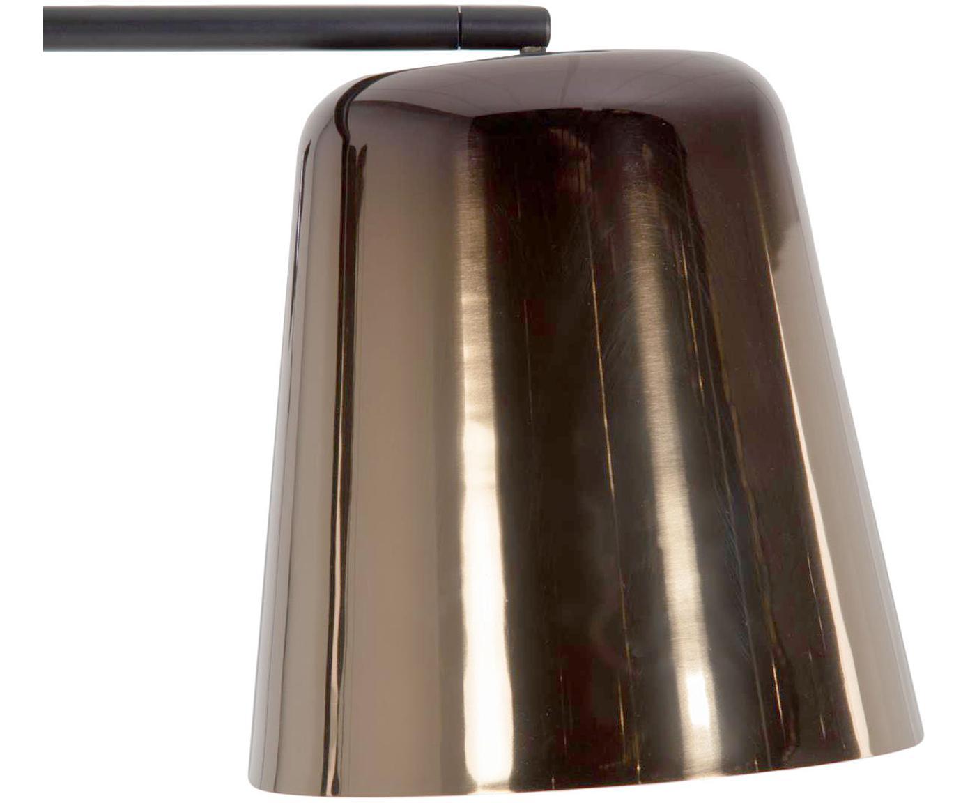 Lampa podłogowa Anina, Metal, Czarny, odcienie mosiądzu, S 103 x W 171 cm