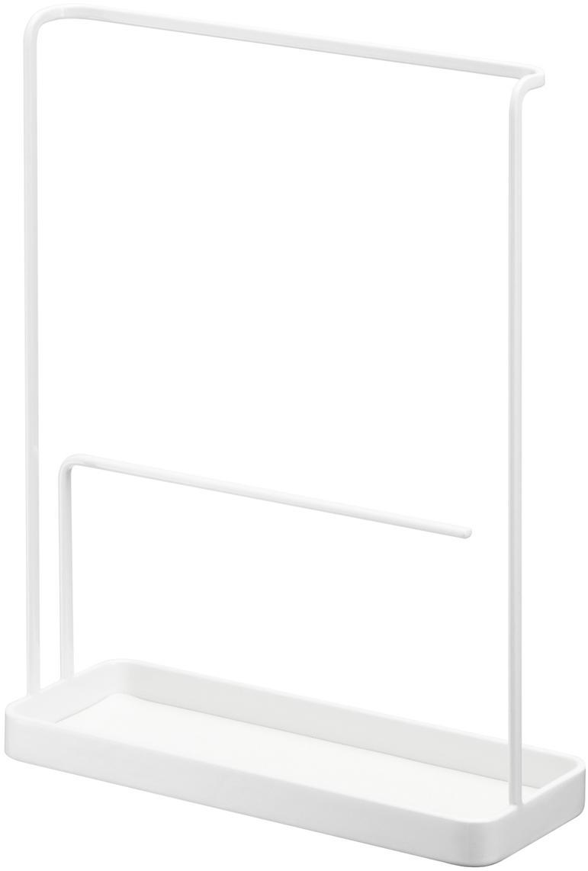 Sieradenhouder Tower, Gelakt staal, Wit, 20 x 26 cm