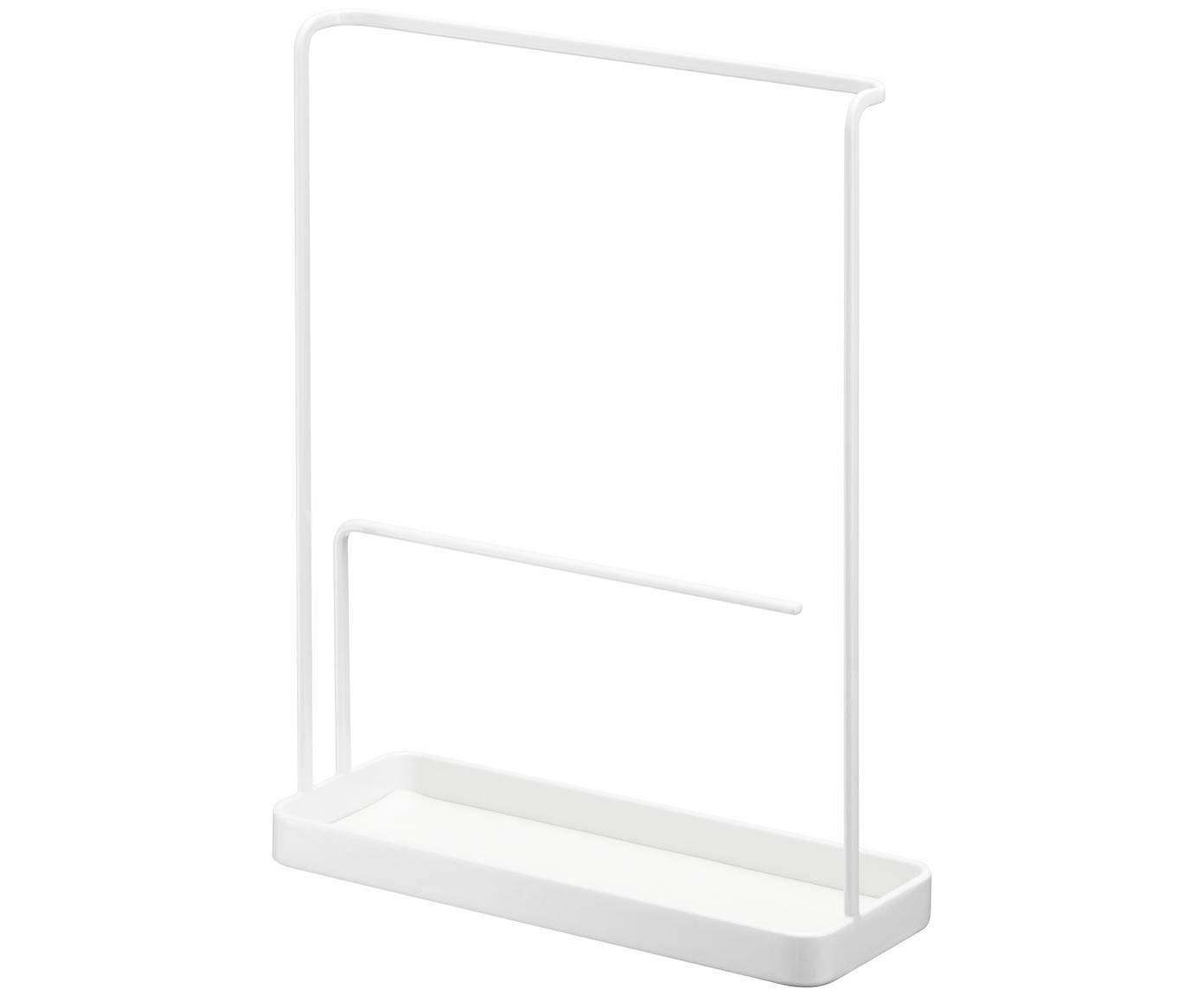 Stojak na biżuterię Tower, Stal lakierowana, Biały, S 20 x W 26 cm